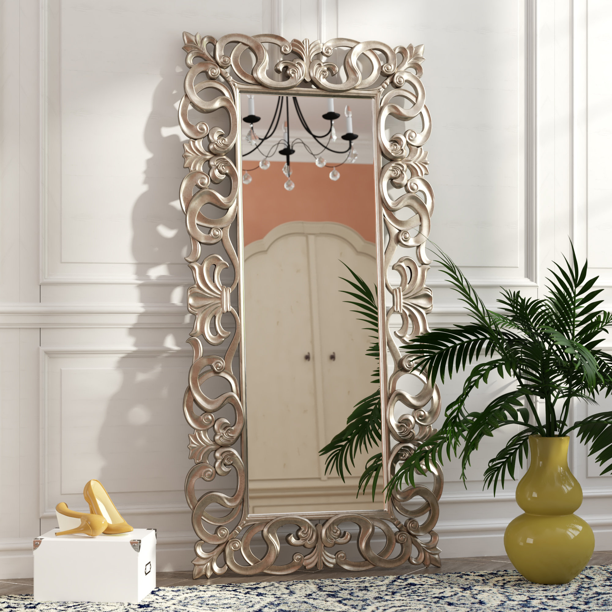Most Current Traditional Rectangle Accent Mirror For Accent Mirrors (View 14 of 20)