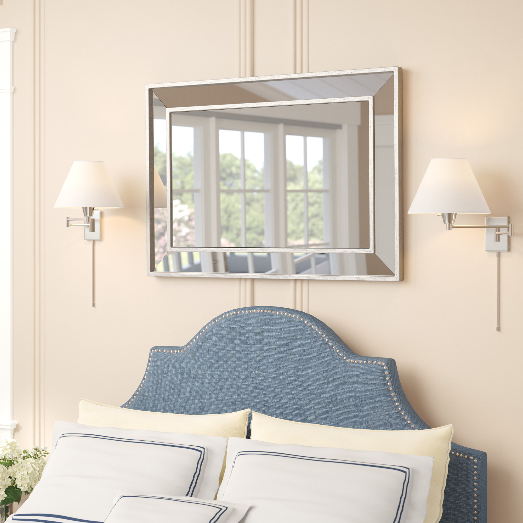 Most Current Tutuala Traditional Beveled Accent Mirrors For Tutuala Traditional Beveled Wall Mirror (View 2 of 20)