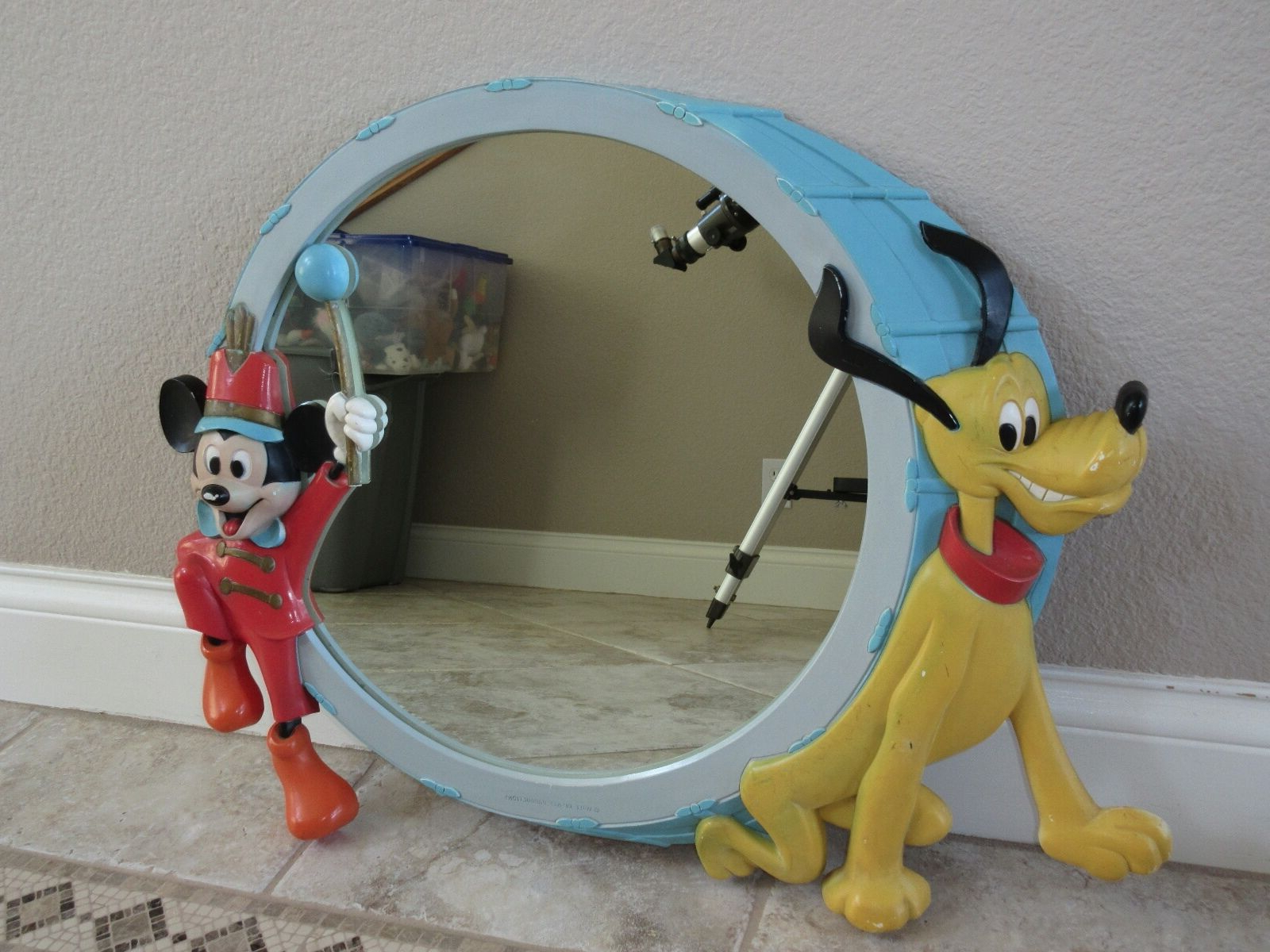 Most Current Vintage Disney Mickey Mouse And Pluto Large Wall Mirror 27 Regarding Mickey Mouse Wall Mirrors (View 10 of 20)
