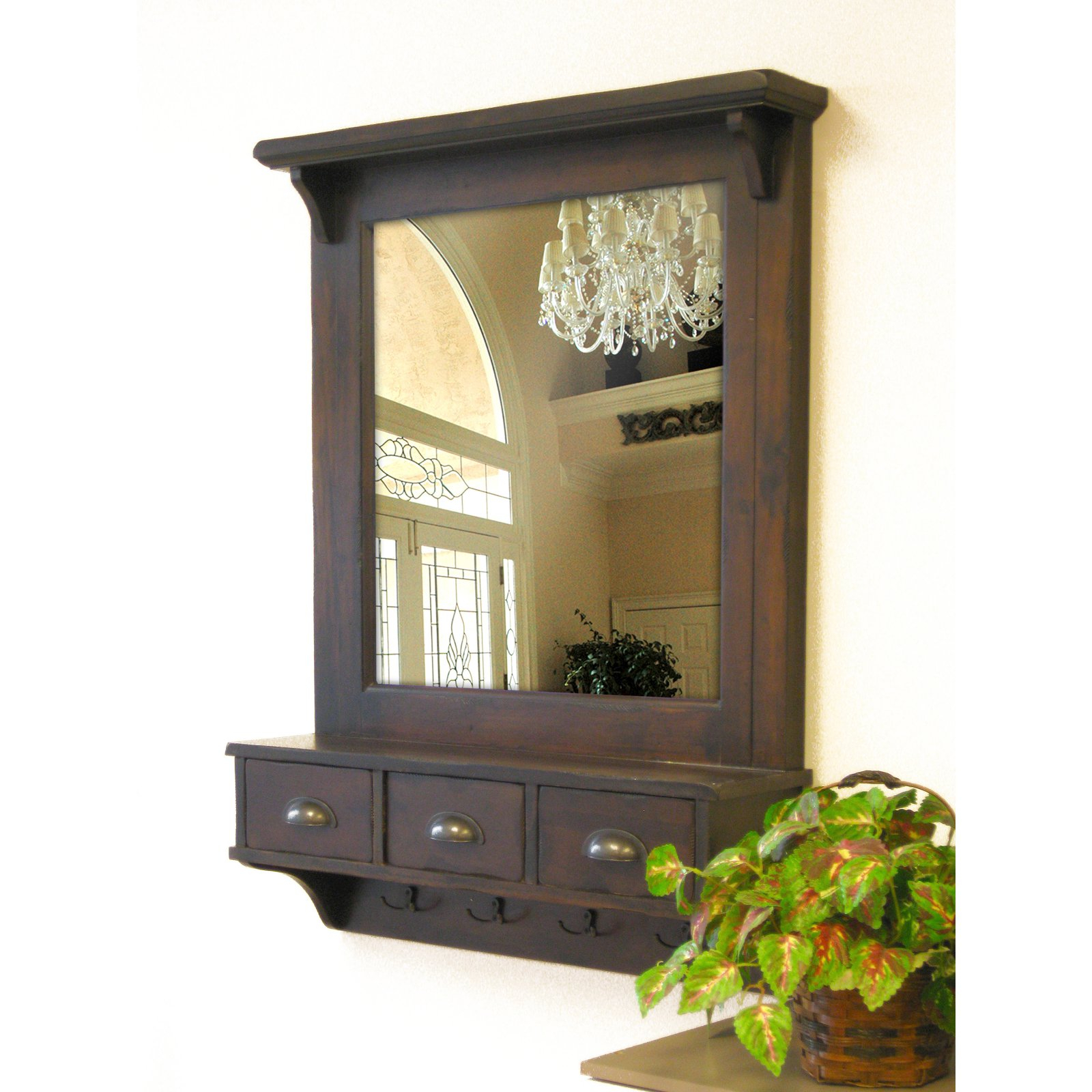 Most Current Wall Mirrors With Storages Throughout Bombay Wall Mirror W/ Drawer Storage & Hooks – 27w X 37h In (View 15 of 20)