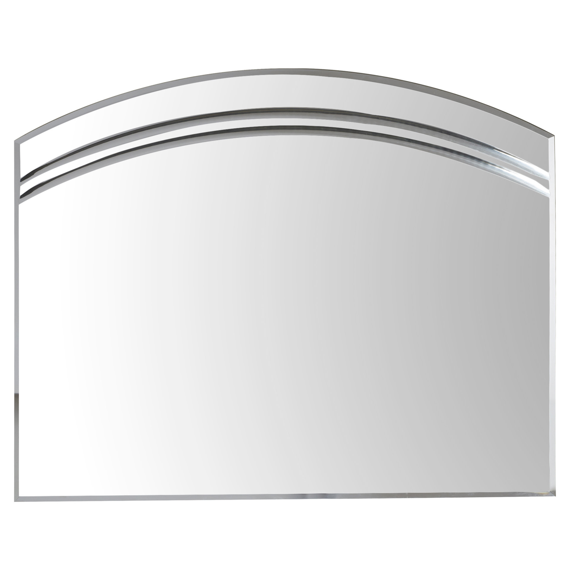 Most Current Wallingford Large Frameless Wall Mirror Throughout Estefania Frameless Wall Mirrors (View 12 of 20)