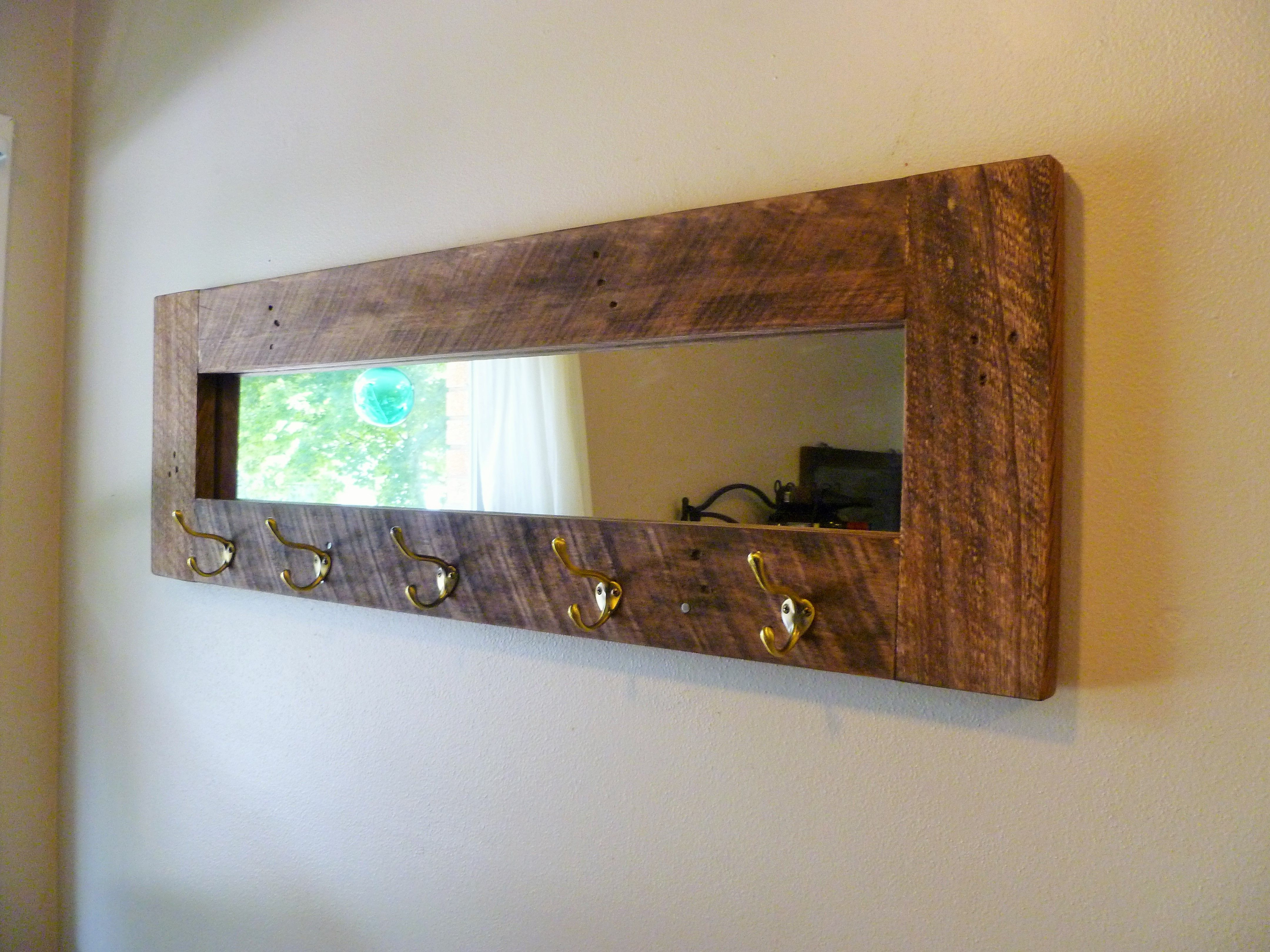 Most Current West Elm Entryway Mirror With Hooks And Shelf Coat Rack Wall Antique Inside Wall Mirror With Coat Hooks (View 3 of 20)