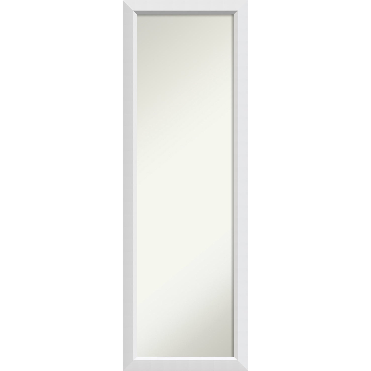Most Current White Full Length Wall Mirrors Intended For On The Door Full Length Wall Mirror, Blanco White 18 X 52 Inch – 52 X 18 X (View 2 of 20)
