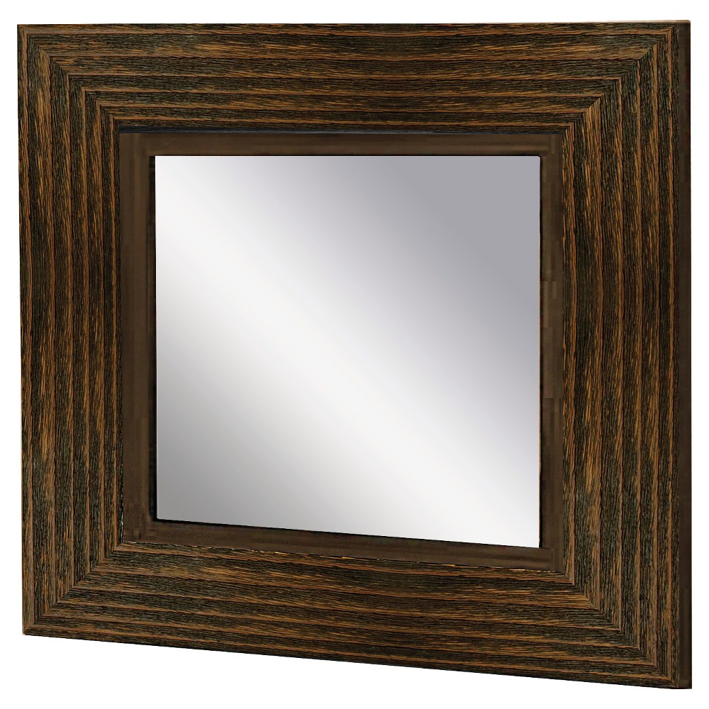 Most Current Wood Accent Mirrors Regarding Ptm Images Square Wood Accent Decorative Wall Mirror Brown (View 7 of 20)