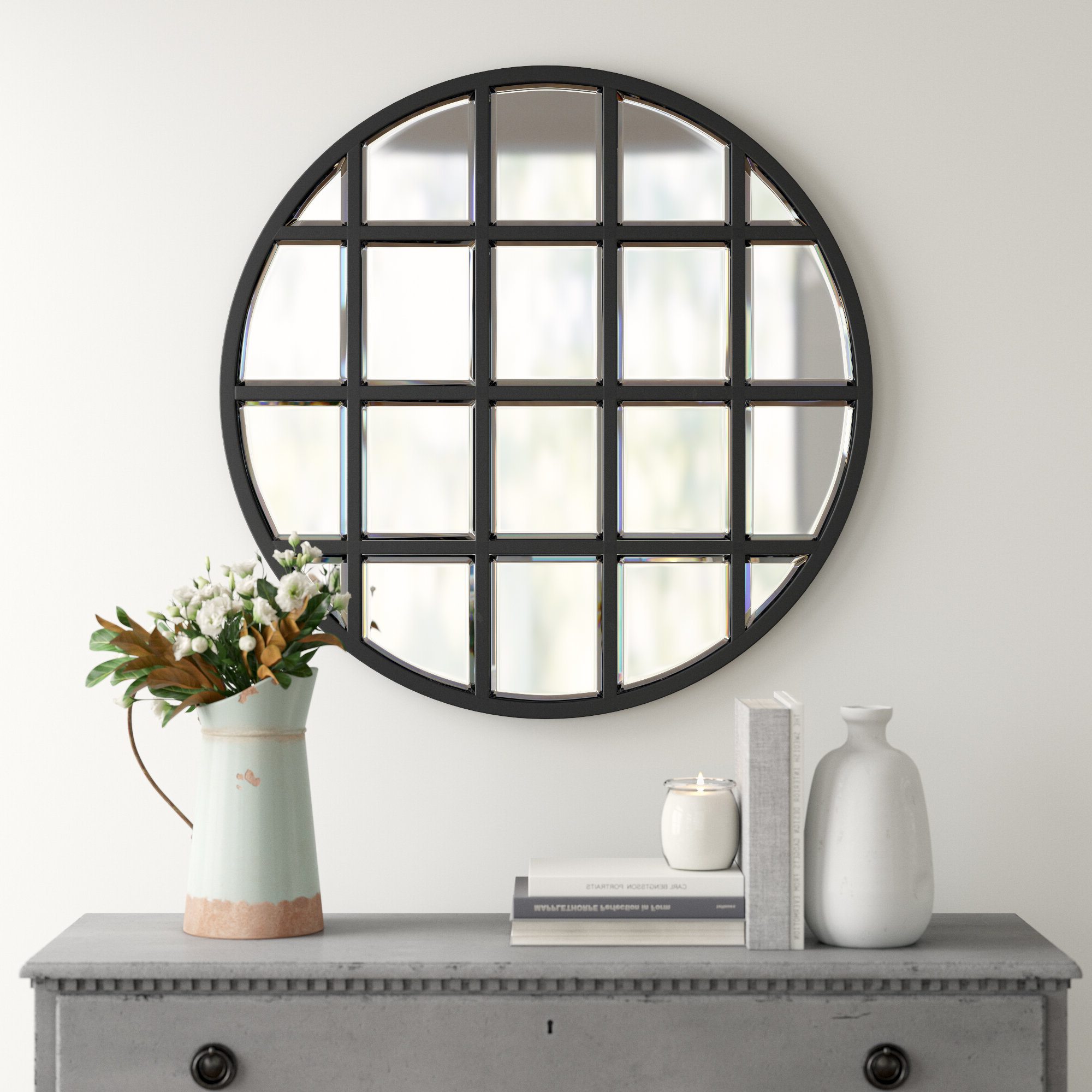 Most Current Yatendra Cottage/country Beveled Accent Mirror For 2 Piece Priscilla Square Traditional Beveled Distressed Accent Mirror Sets (View 3 of 20)