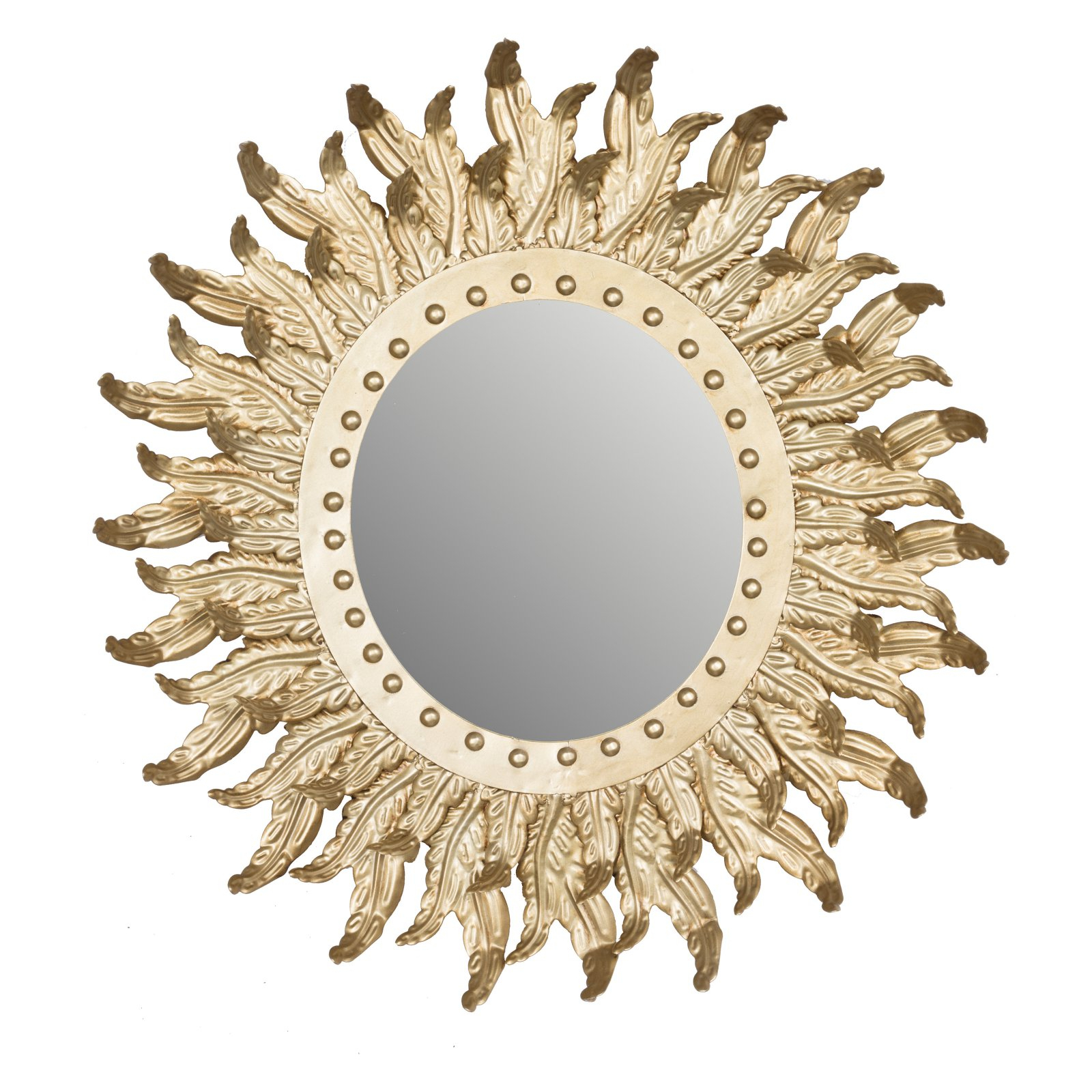 Most Popular A & B Home Hemmingways Sun Burst Wall Mirror – 20.5W X 21.7H In (View 10 of 20)