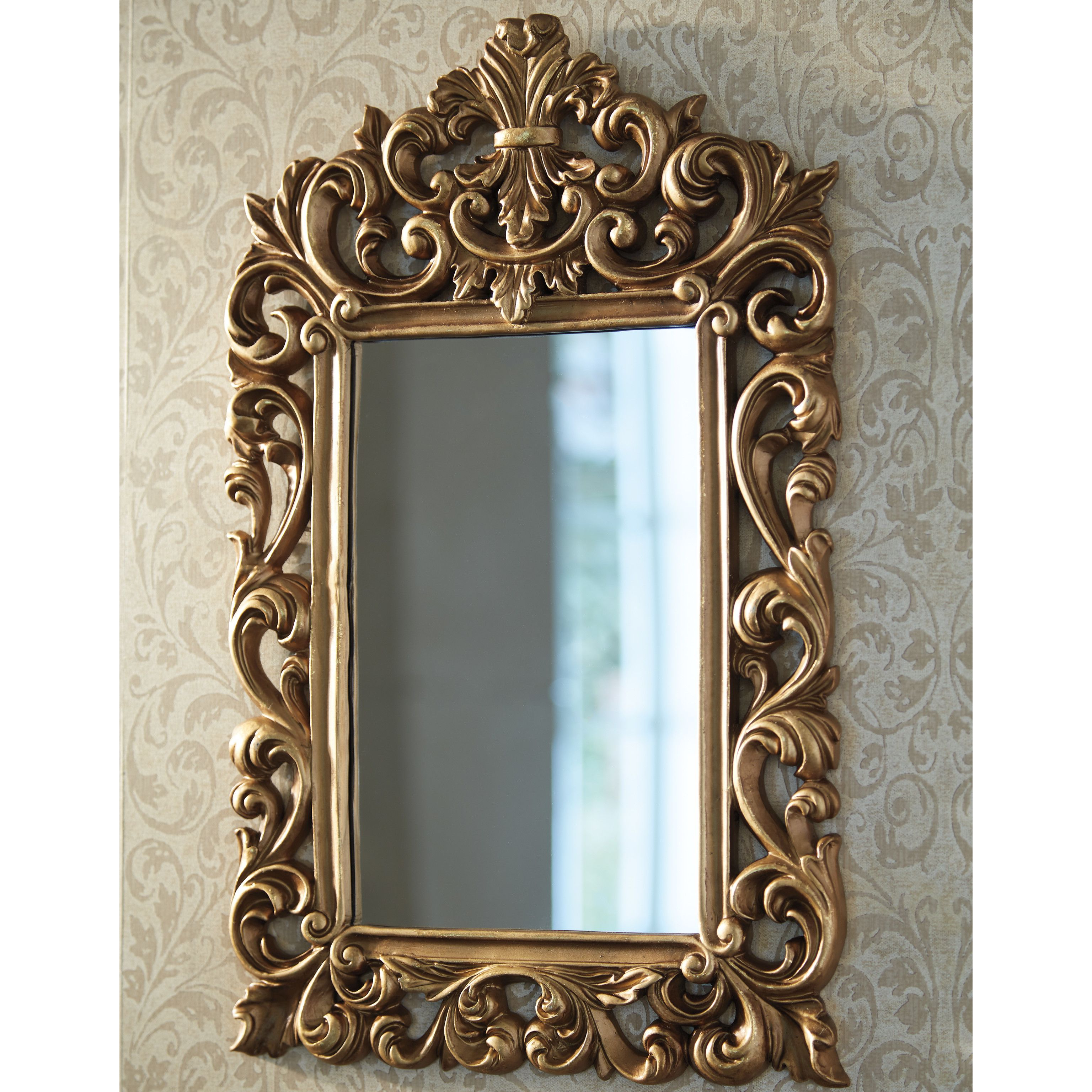 Most Popular Antique Gold Wall Mirrors Regarding Astoria Grand Antique Gold Wall Mirror (Gallery 7 of 20)