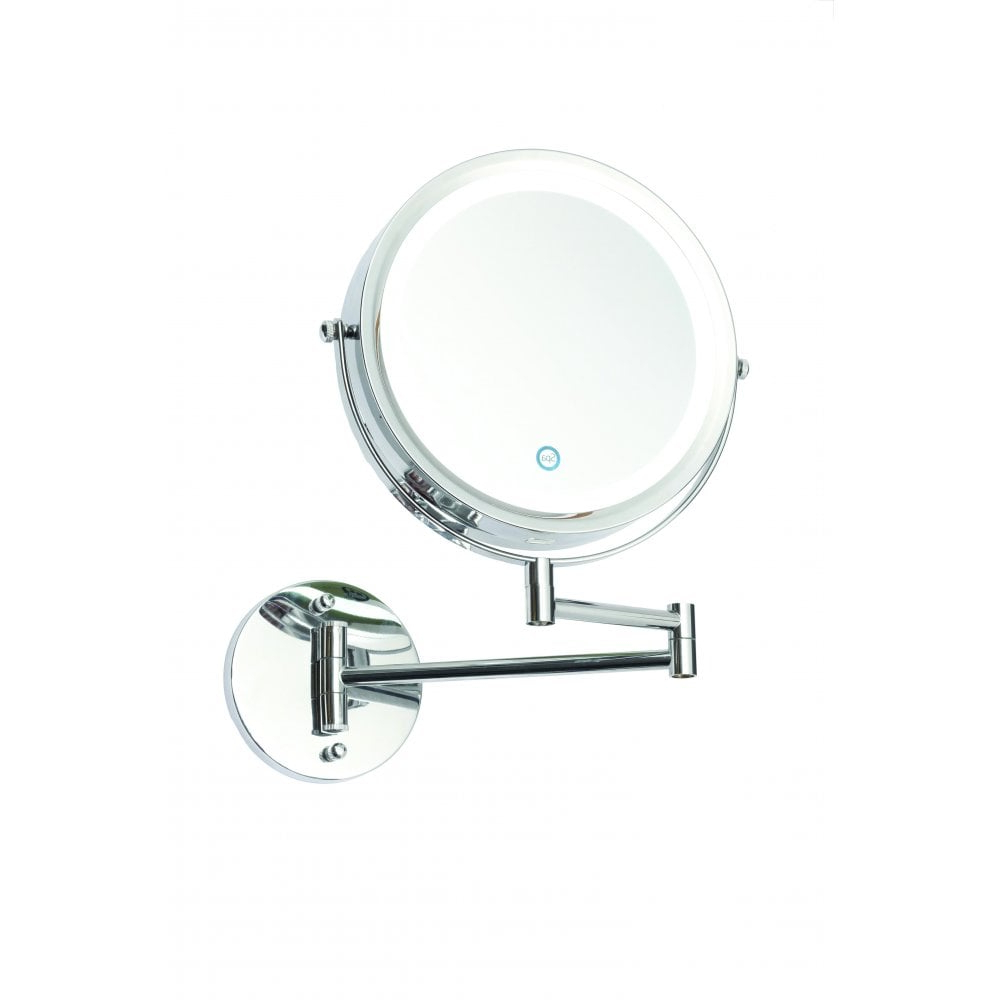 Most Popular Asti Led Touch Operated Battery Powered Magnifying Bathroom Wall Mirror In Polished Chrome Finish With Magnifying Wall Mirrors (View 12 of 20)