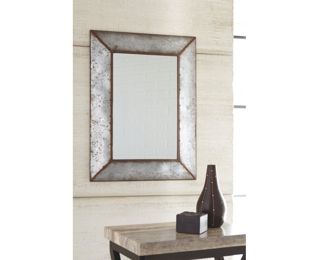 Most Popular Bartolo Accent Mirrors Pertaining To Ashley Furniture Signature Design Otalley Metal Framed Accent Mirror (View 13 of 20)