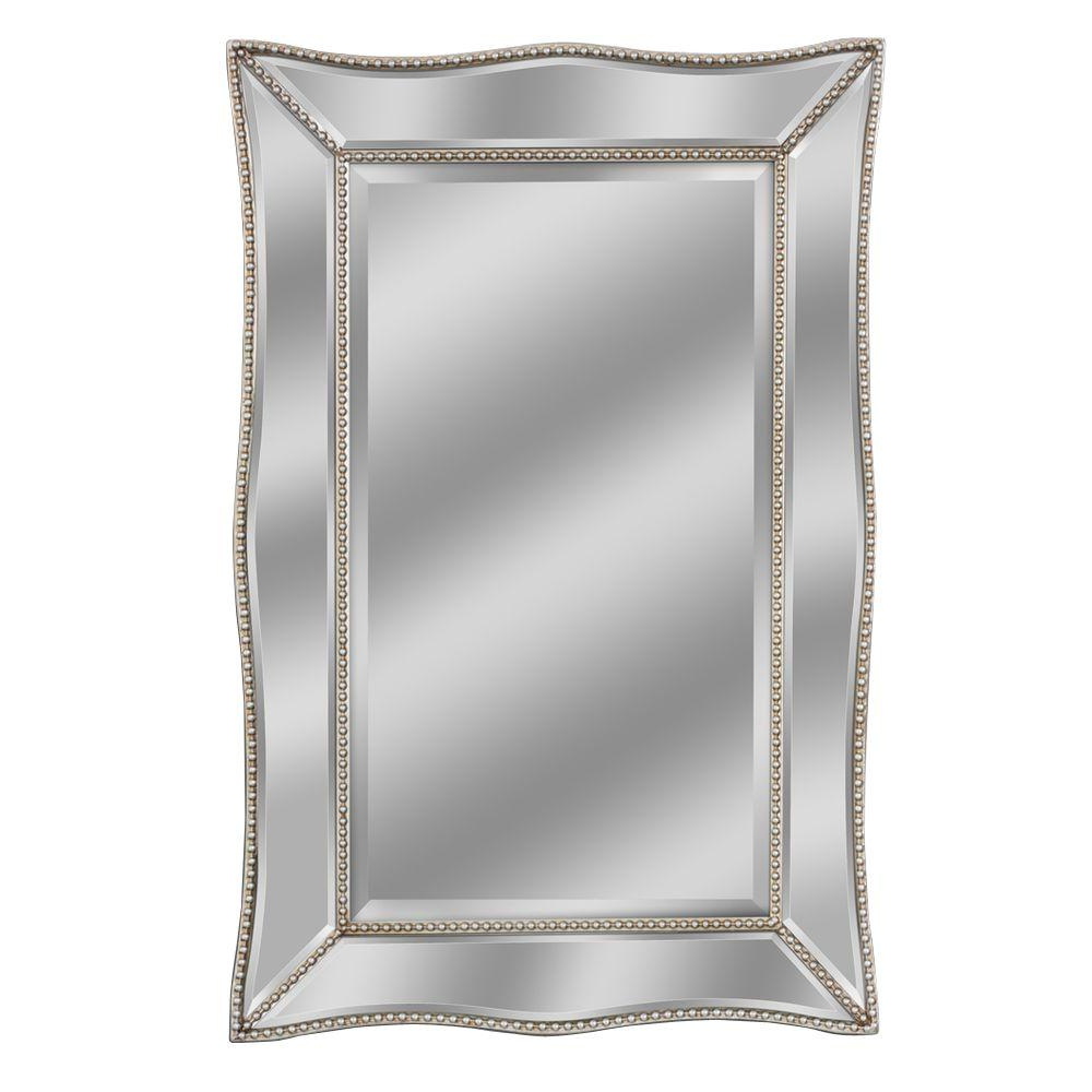 Most Popular Beaded Wall Mirrors Intended For Deco Mirror 36 In. L X 24 In (View 15 of 20)