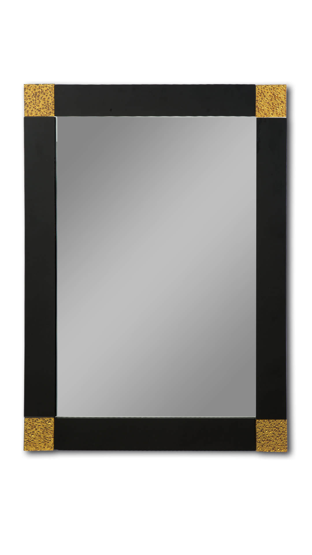 Most Popular Black And Gold Rectangle Wall Mirror With Regard To Black Wall Mirrors (View 20 of 20)