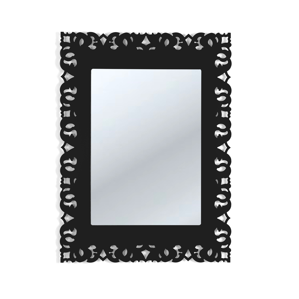 Most Popular Black Decorative Wall Mirror With Macramé Design Tonya, Made In Italy Regarding Black Decorative Wall Mirrors (View 19 of 20)
