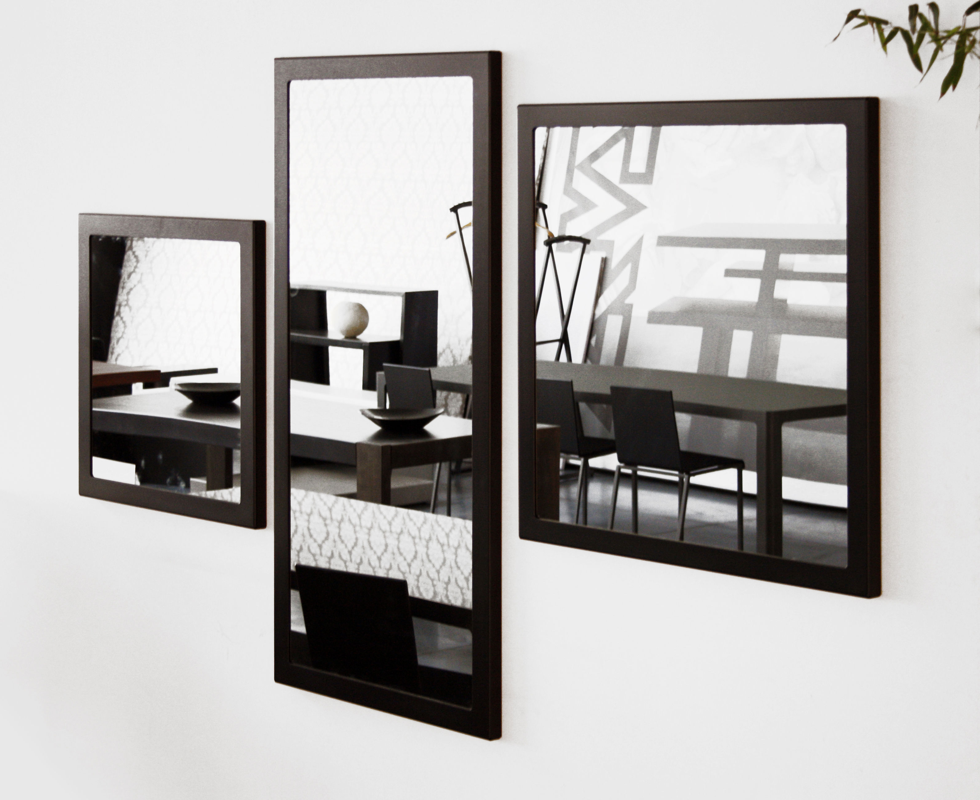 Most Popular Black Framed Wall Mirrors Within Little Frame Wall Mirror – 90 X 90 Cmzeus (View 10 of 20)