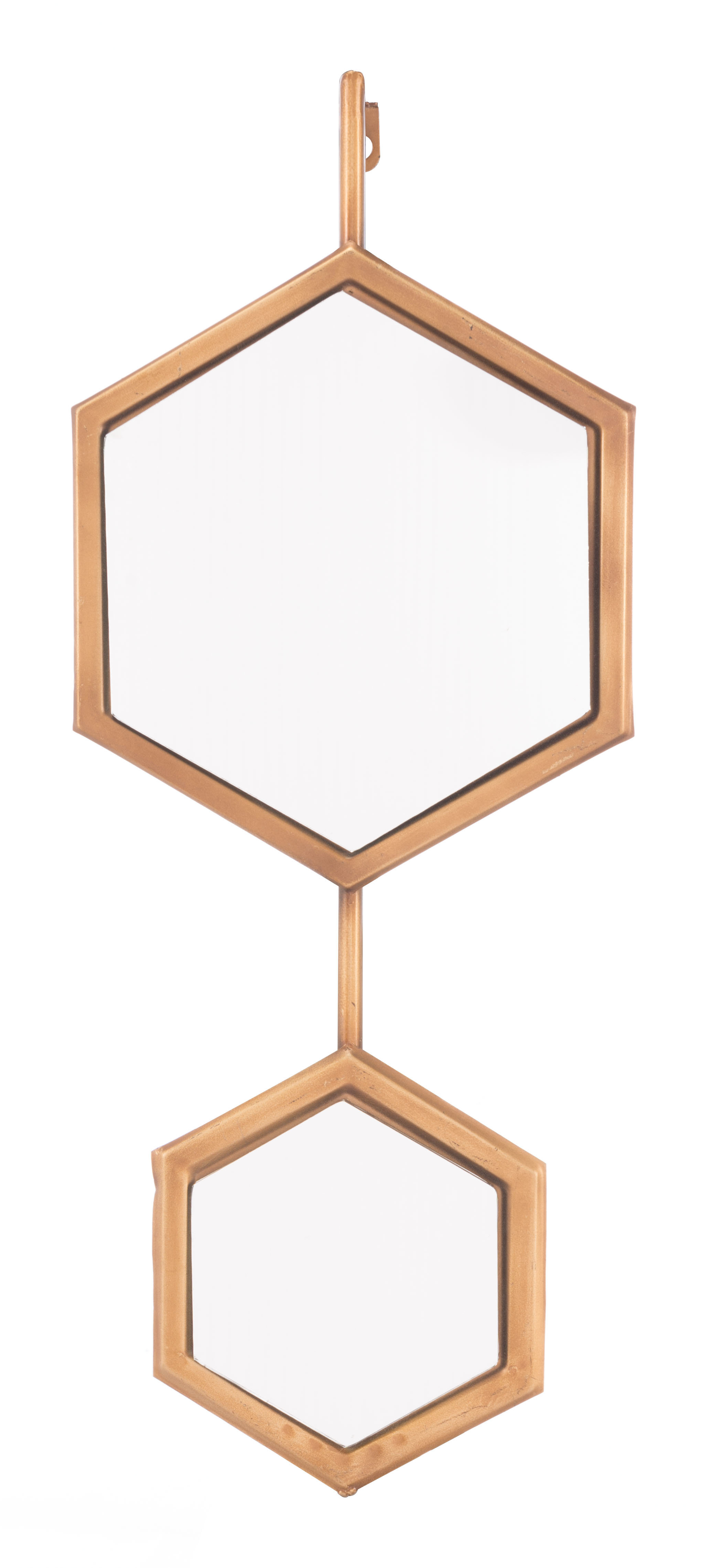 Most Popular Bonnett Metal Framed Accent Mirror Inside Gia Hexagon Accent Mirrors (View 12 of 20)