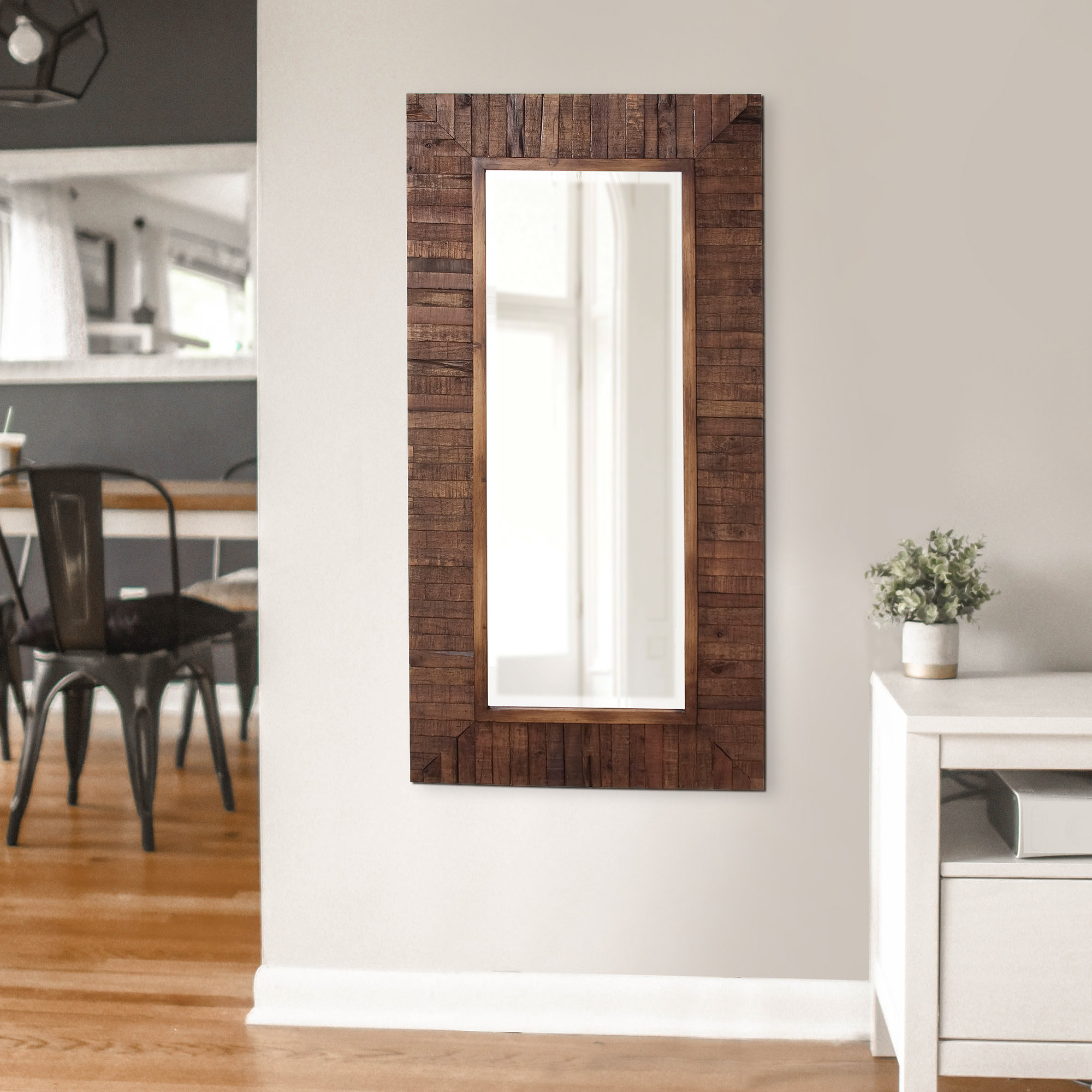 Most Popular Booth Reclaimed Wall Mirrors Accent With Kehoe Wall Mirror (View 14 of 20)