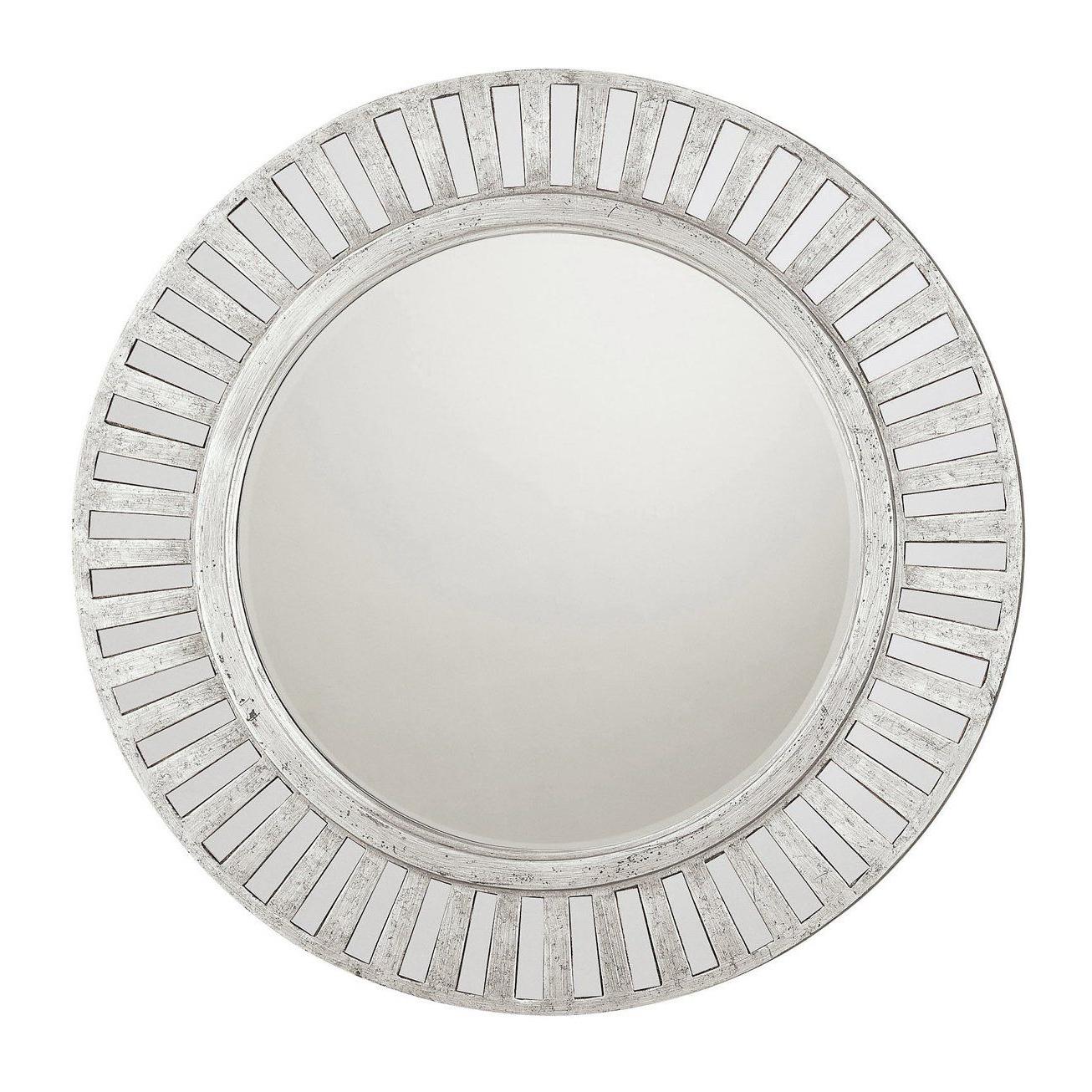 Most Popular Capital Lighting M242443 Decorative Wall Mirror, Antique Silver Regarding Lidya Frameless Beveled Wall Mirrors (View 8 of 20)