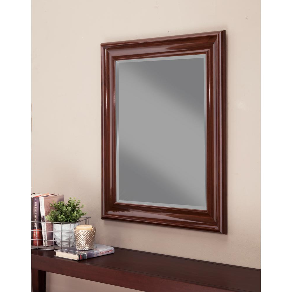 Most Popular Cherry Wall Mirrors Pertaining To Martin Svesson Cherry Wall Mirror 14417 – The Home Depot (View 10 of 20)