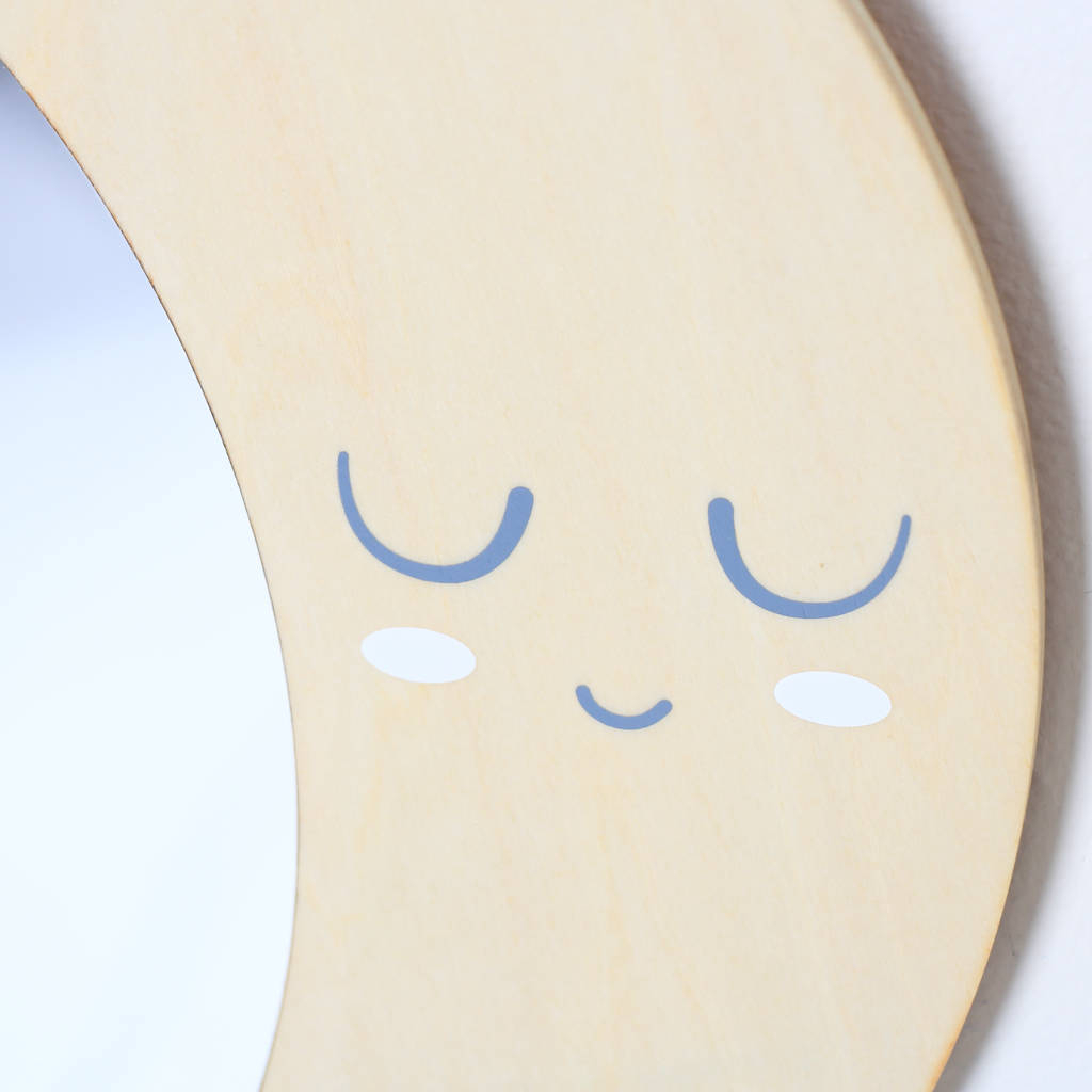 Most Popular Childrens Wall Mirrors With Regard To Luna Children's Room Moon Wall Mirror (View 19 of 20)