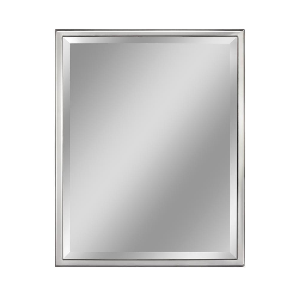 Most Popular Chrome Wall Mirrors Pertaining To Deco Mirror 24 In. W X 30 In. H Classic 1 In (View 7 of 20)