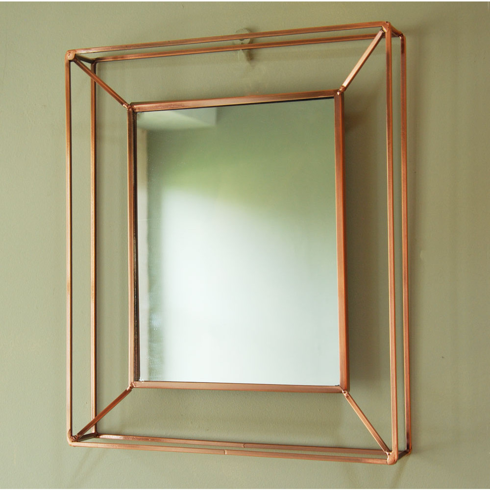 Most Popular Copper Wall Mirrors Inside Hackney Copper Framework Wall Mirror (View 20 of 20)
