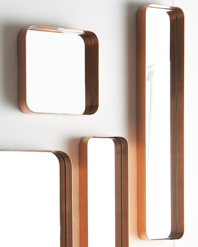 Most Popular Copper Wall Mirrors Intended For Kelly – Rectangular Wall Mirror (copper Frame, H:76cm (View 10 of 20)