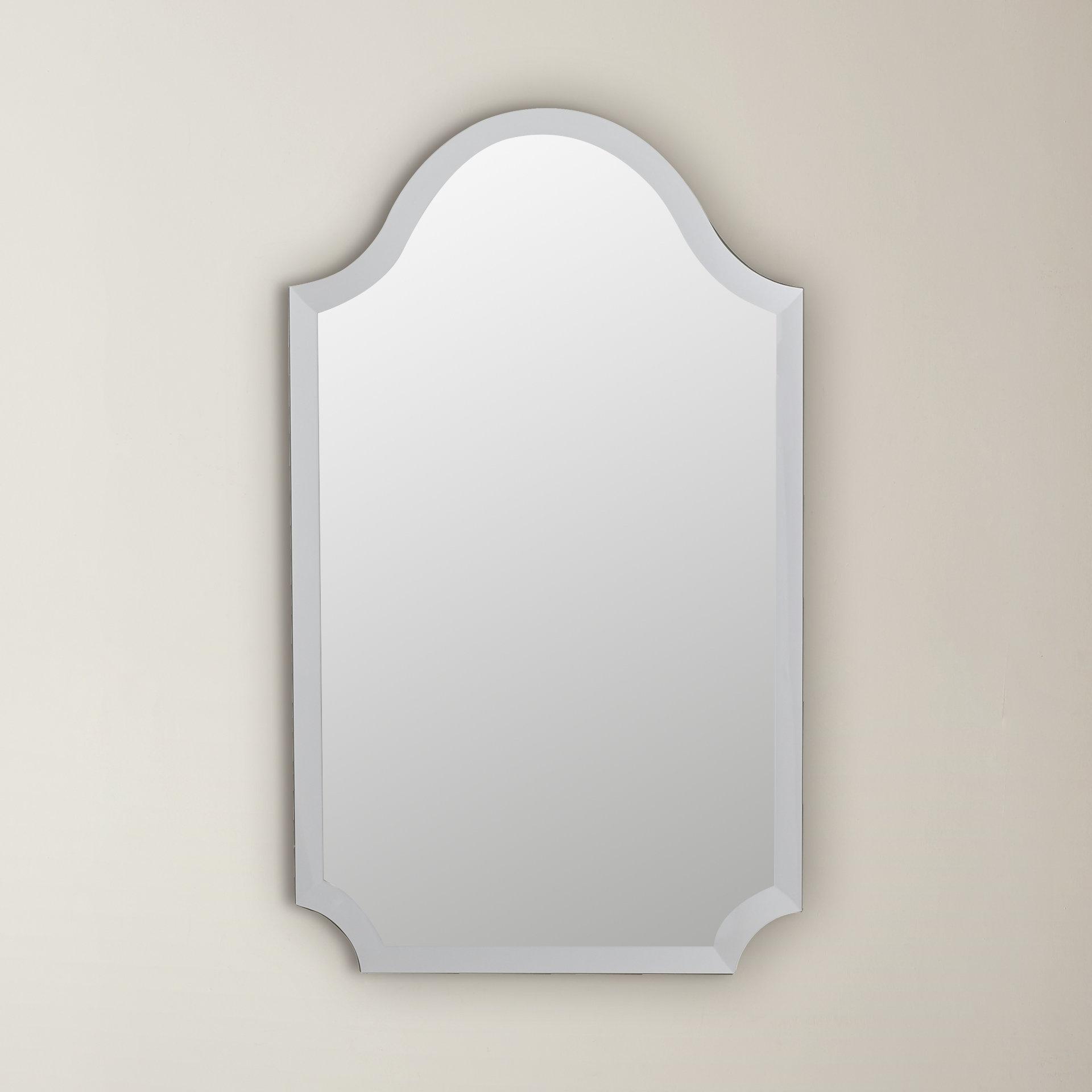 Most Popular Dariel Tall Arched Scalloped Wall Mirrors Inside Willa Arlo Interiors Dariel Tall Arched Scalloped Wall Mirror (View 3 of 20)