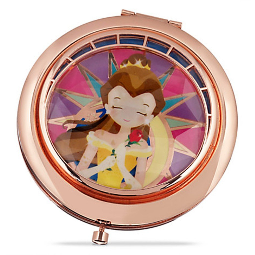 Most Popular Disney Store Art Of Belle Compact Mirror ~ Beauty And The Beast Regarding Disney Wall Mirrors (View 12 of 20)
