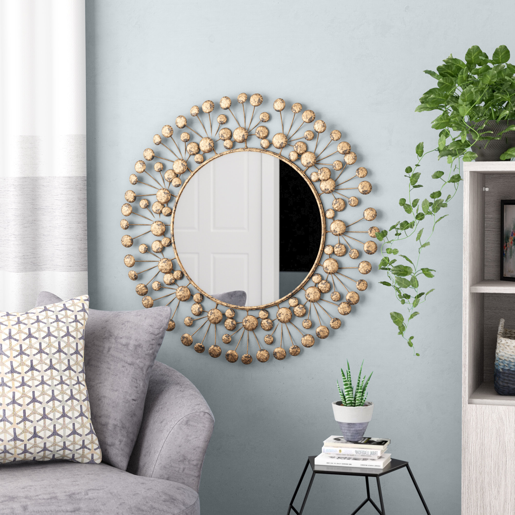 Most Popular Eisenbarth Oversized Decorative Round Wall Mirror With Regard To Decorative Round Wall Mirrors (Gallery 1 of 20)