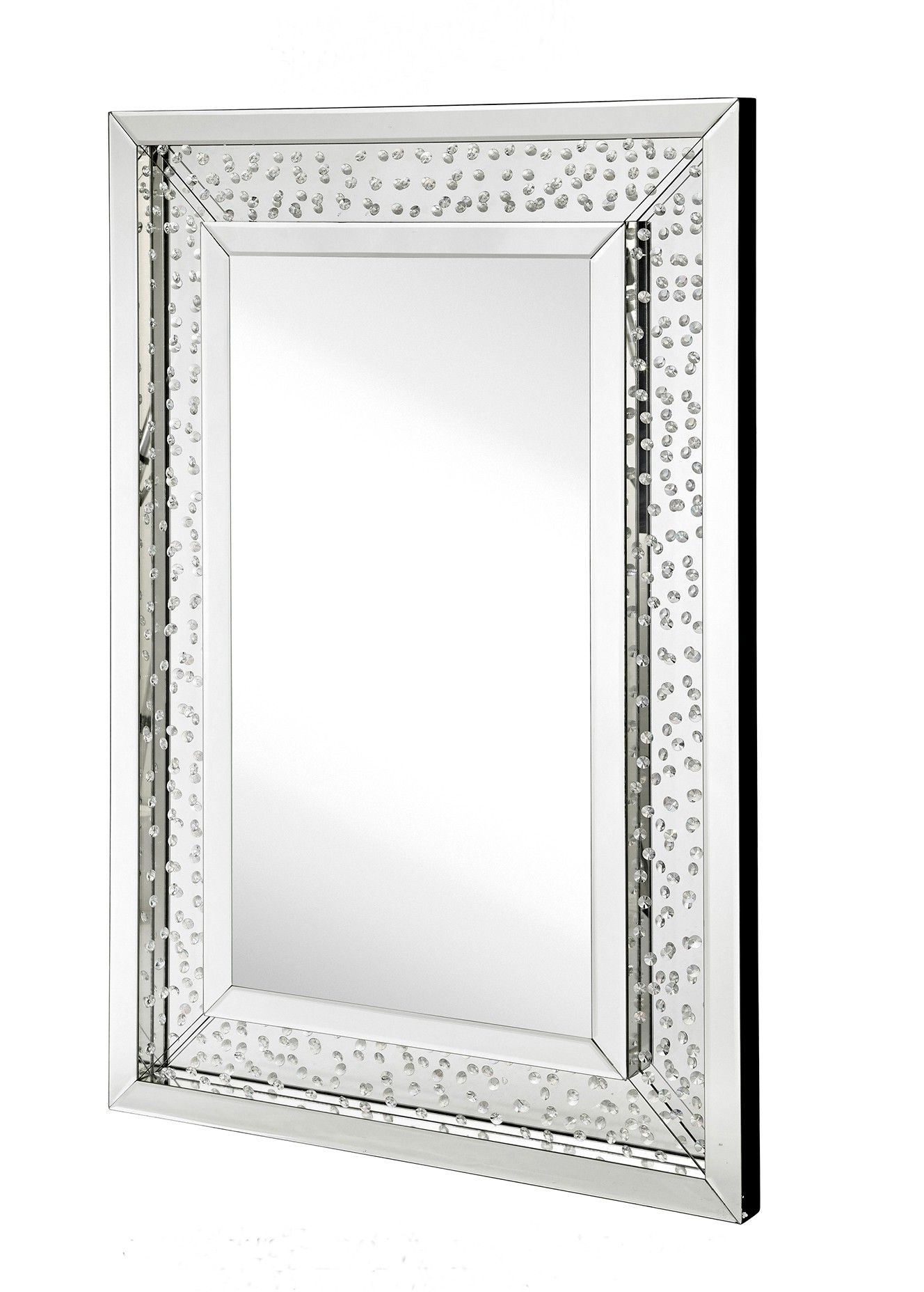 Most Popular Floating Crystal – Floating Crystal Rectangle Wall Mirror With Modern Rectangle Wall Mirrors (View 16 of 20)