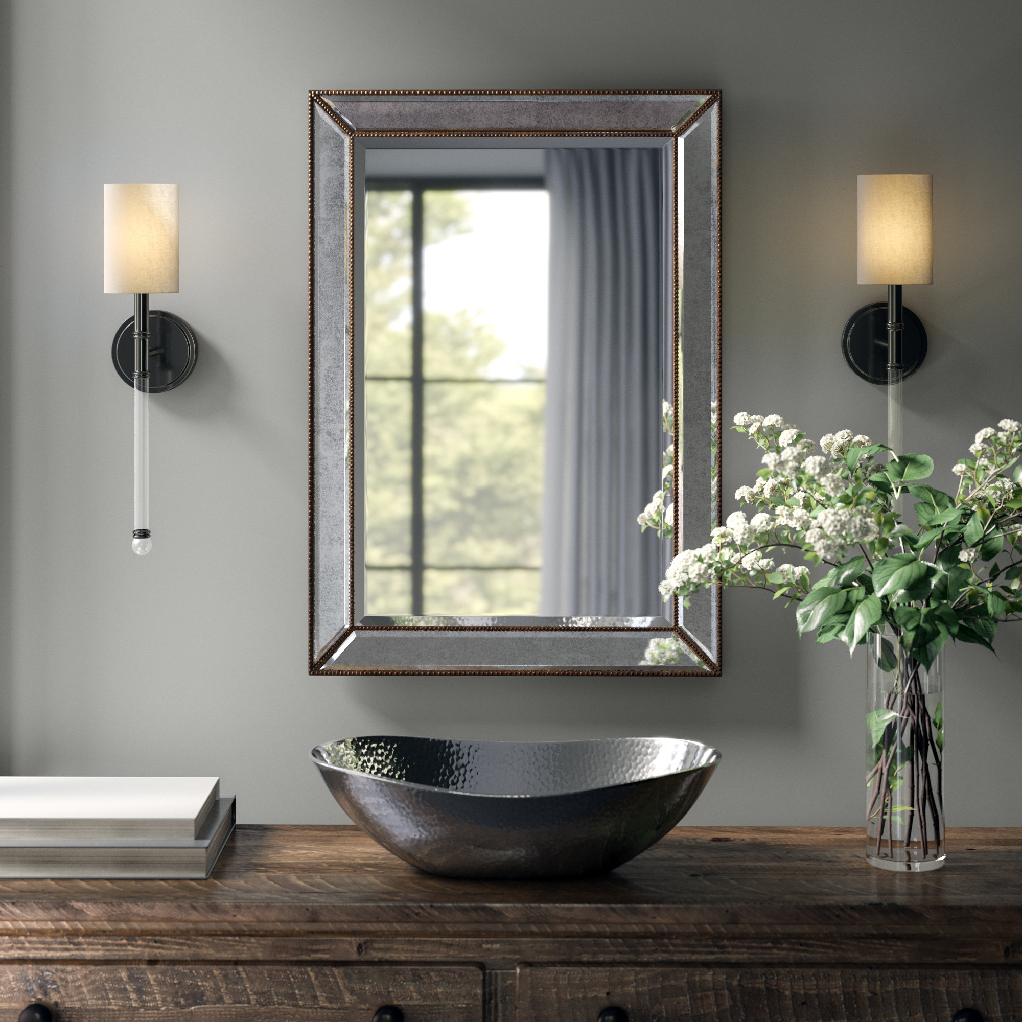 Most Popular Greyleigh Marsha Traditional Rectangle Mdf/mirror Framed Accent Throughout Owens Accent Mirrors (View 8 of 20)