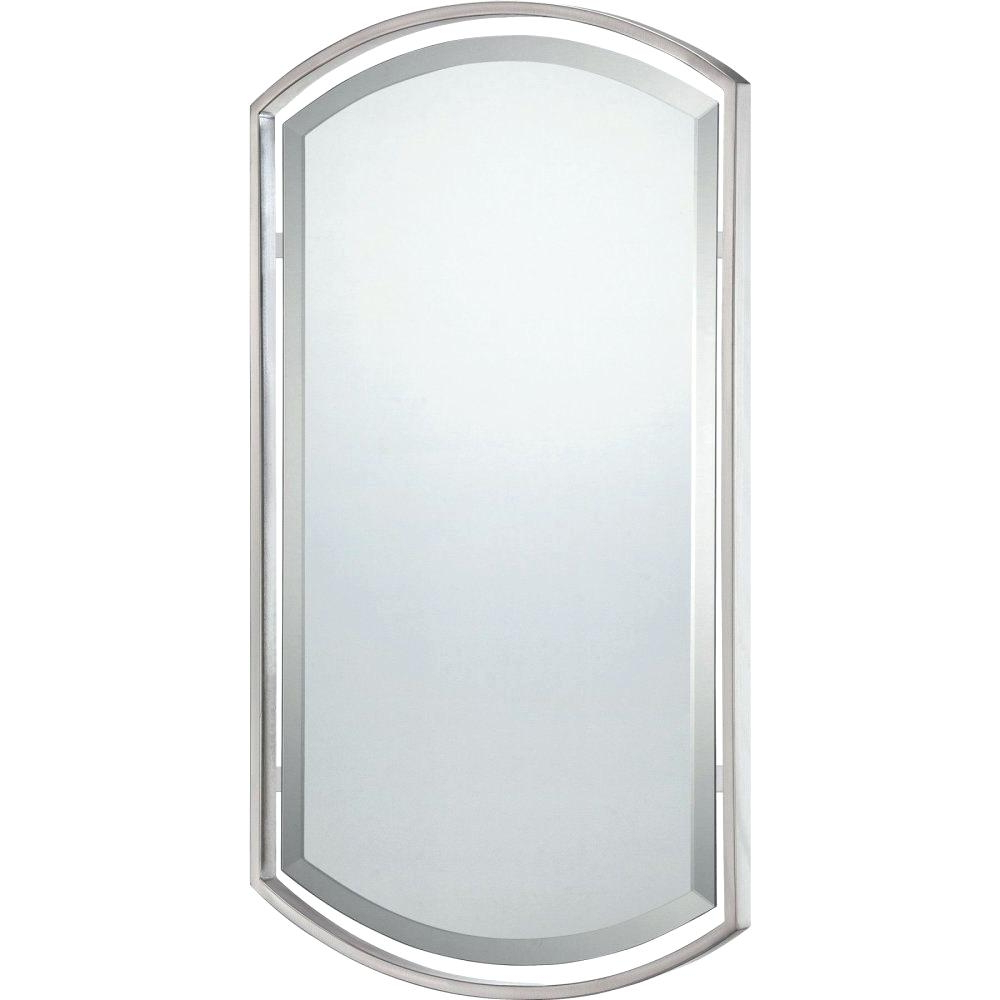 Most Popular Hogge Modern Brushed Nickel Large Frame Wall Mirrors Inside Brushed Nickel Mirrors – Appyhomes (View 15 of 20)
