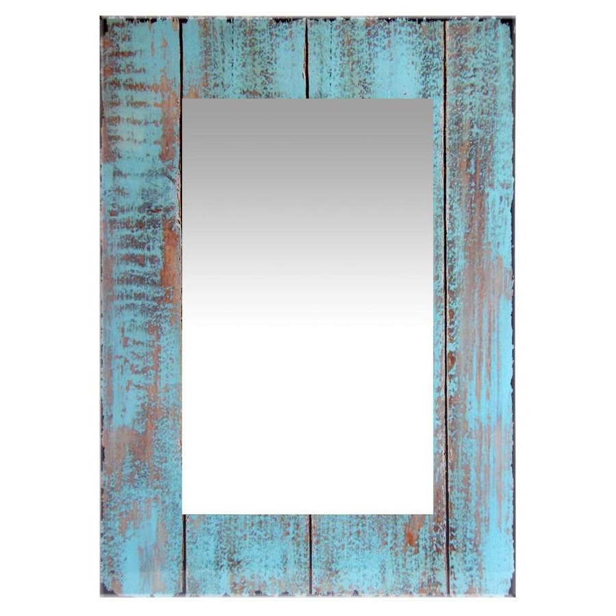 Most Popular Infinity Instruments Shabby Chic 20 In L X 20 In W Rustic Inside Turquoise Wall Mirrors (View 6 of 20)