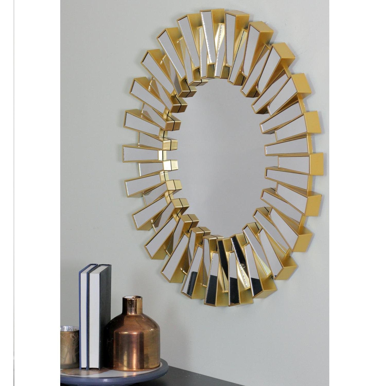 Most Popular Karn Vertical Round Resin Wall Mirrors Regarding Richards Aztec Inspired Sparkling Sunburst Round Wall Mirror (View 17 of 20)