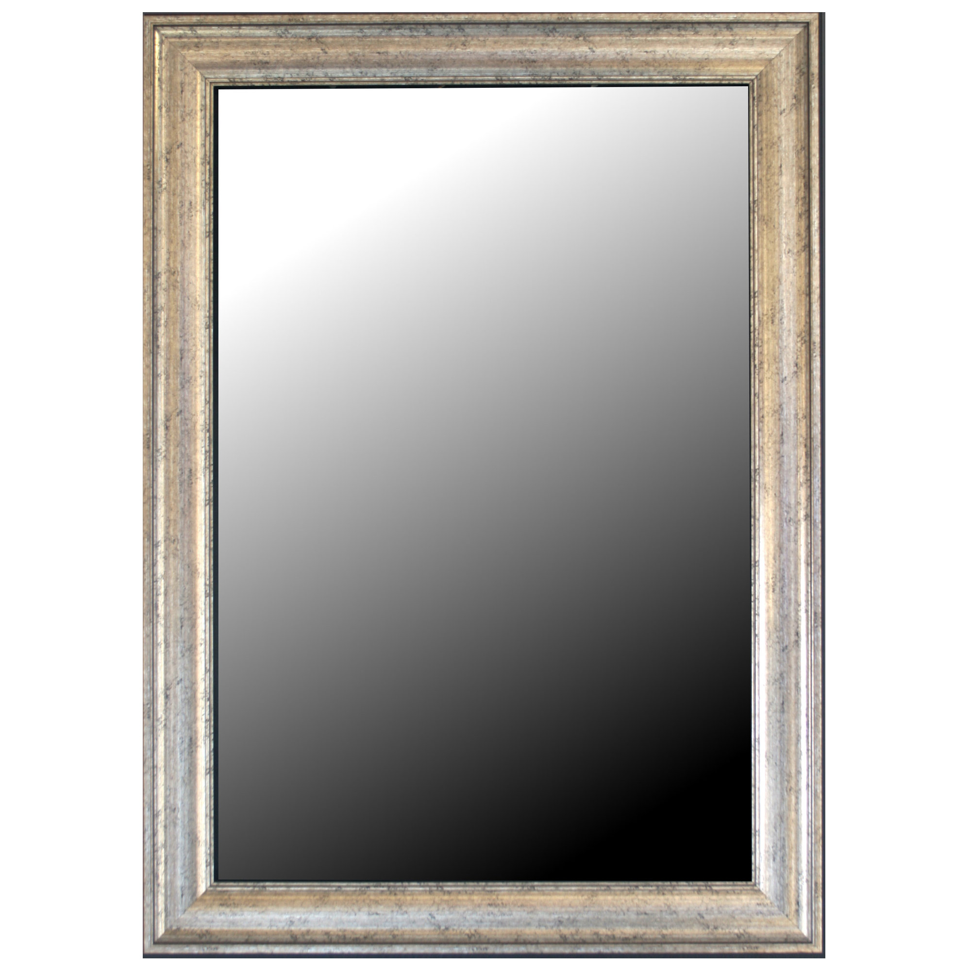 Most Popular Kristy Rectangular Beveled Vanity Mirrors In Distressed Inside Curren Vintage Beveled Silver Wall Mirror (View 13 of 20)