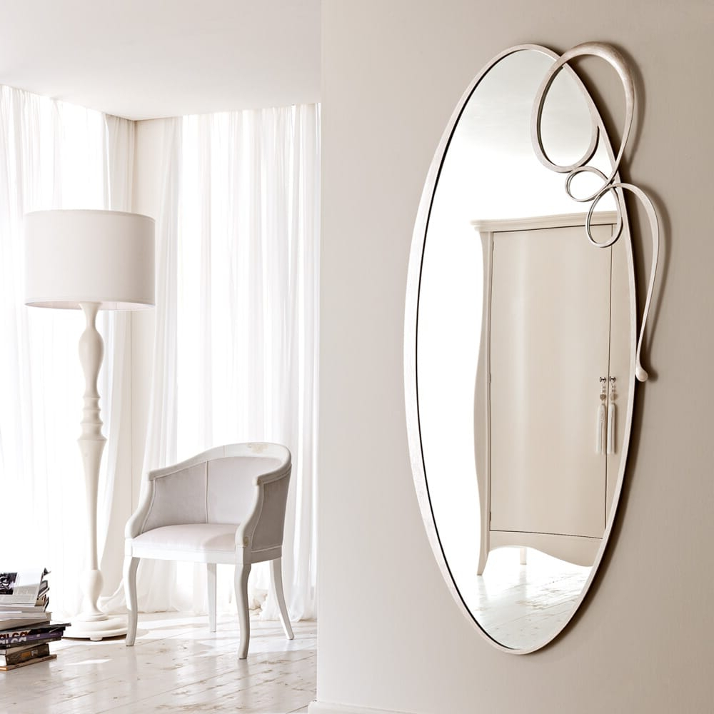 Most Popular Large Oval Wall Mirrors Within Large Italian Oval Wall Mirror (View 2 of 20)
