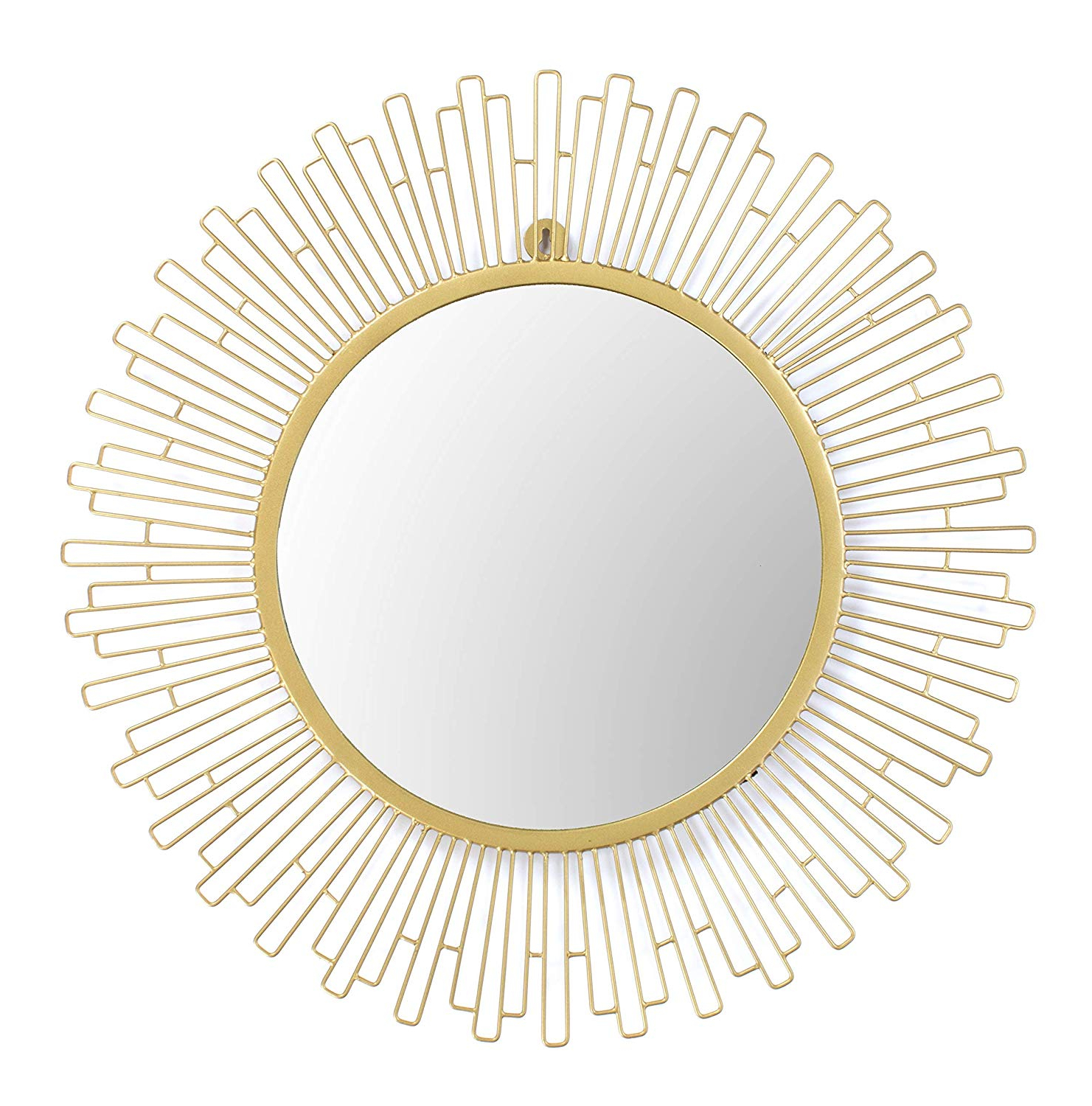 Most Popular Large Red Wall Mirrors Within Amazon: Red Fig Home Wall Mirror Décor – Decorative Gold Metal (View 9 of 20)
