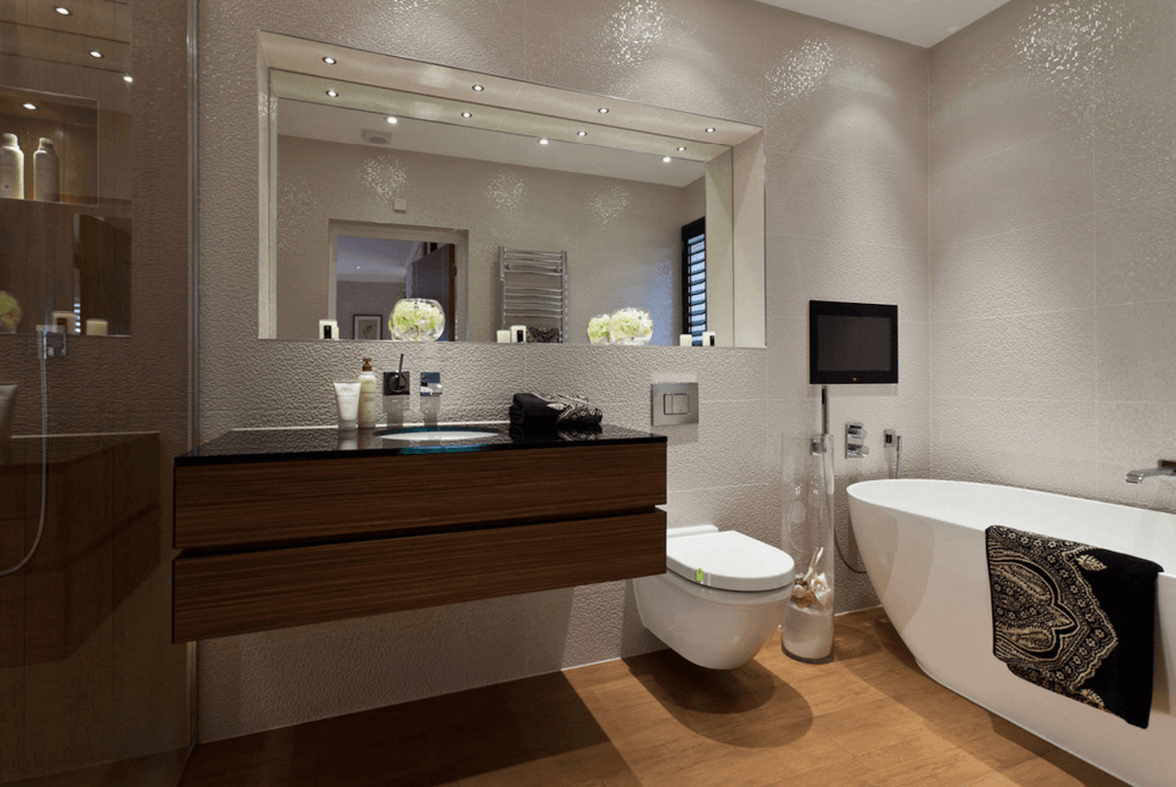 Most Popular Large Wall Mirrors For Bathroom Pertaining To 38 Bathroom Mirror Ideas To Reflect Your Style – Freshome (View 13 of 20)