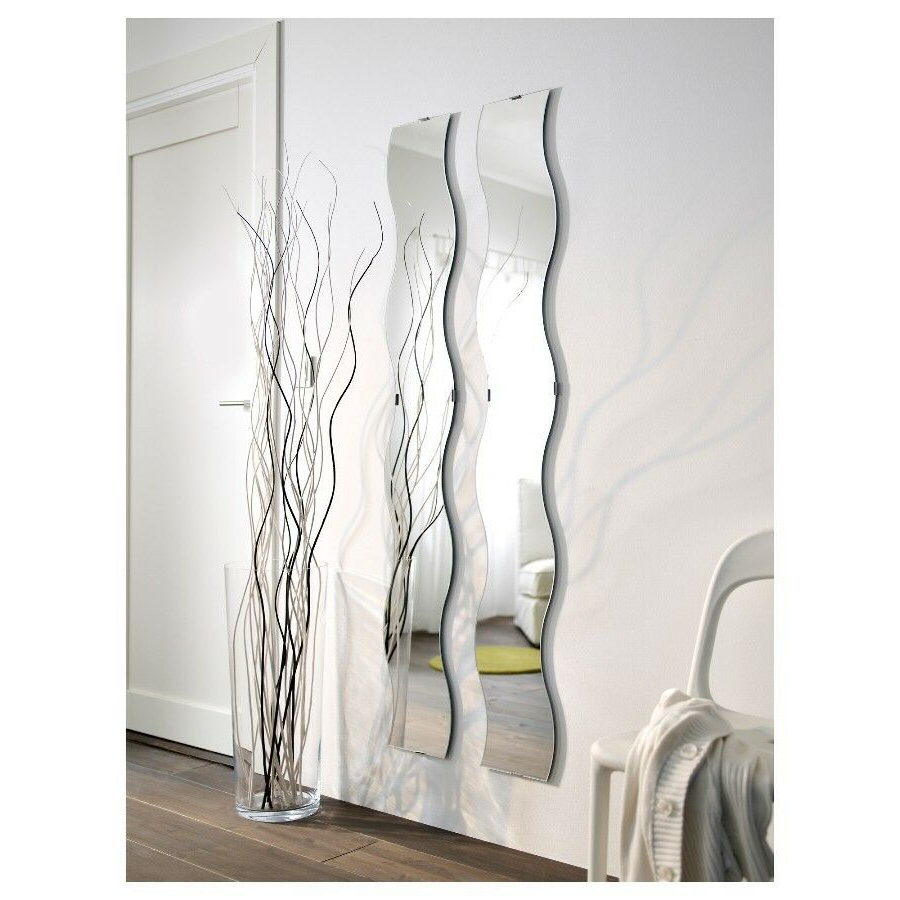 Most Popular Long Wall Mirrors Pertaining To Ikea Krabb Wavy Long Wall Mirrors X 2 With Fixings (View 16 of 20)