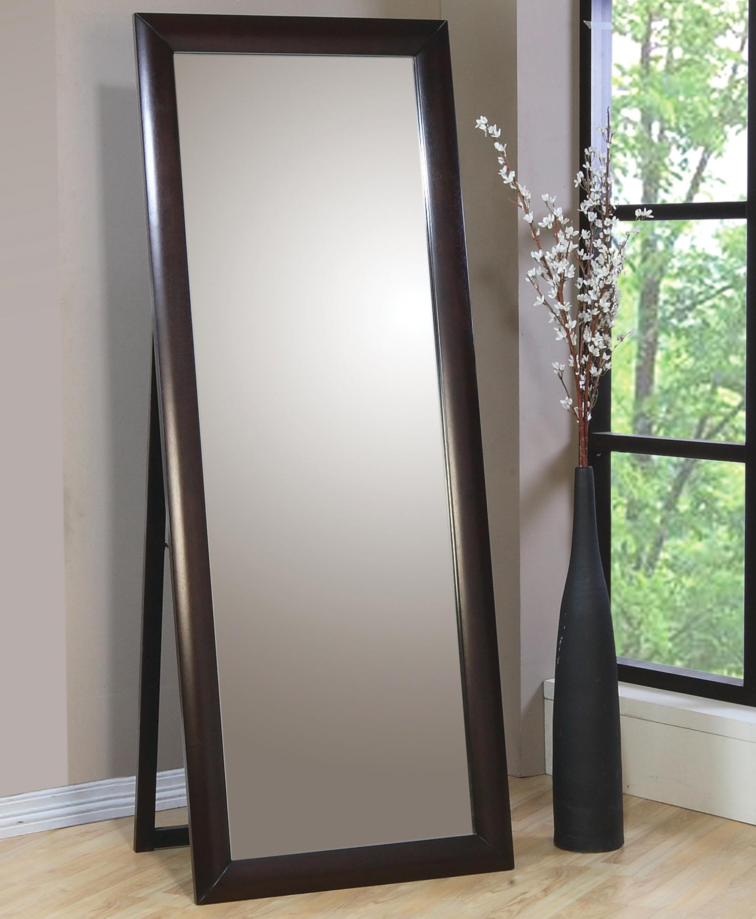 Most Popular Phoenix Contemporary Standing Floor Mirrorcoaster At Dunk & Bright Furniture Inside Standing Wall Mirrors (View 4 of 20)
