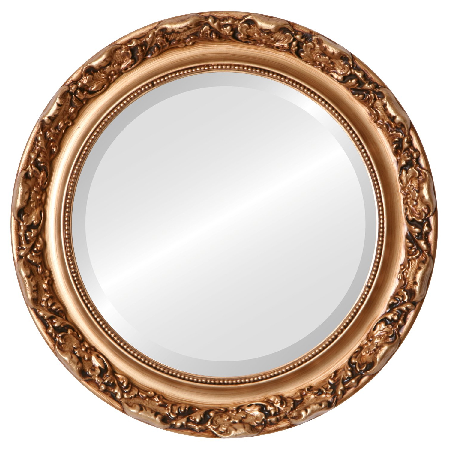 Most Popular Round Beveled Wall Mirrors Pertaining To Amazon: Round Beveled Wall Mirror For Home Decor – Rome Style (View 3 of 20)