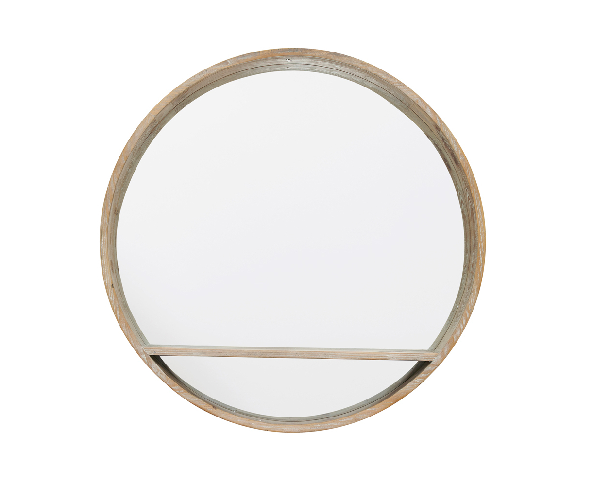 Most Popular Round Wood Wall Mirrors Regarding Hula (View 15 of 20)