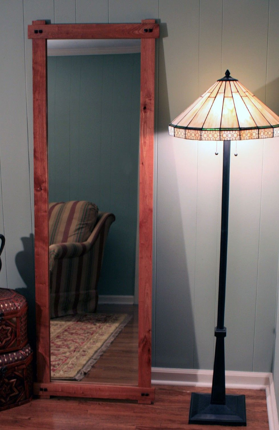 Most Popular Rustic Cherry Full Length Or Floor Mirror, Gloss Clear Coat Finish Intended For Cherry Wall Mirrors (View 9 of 20)