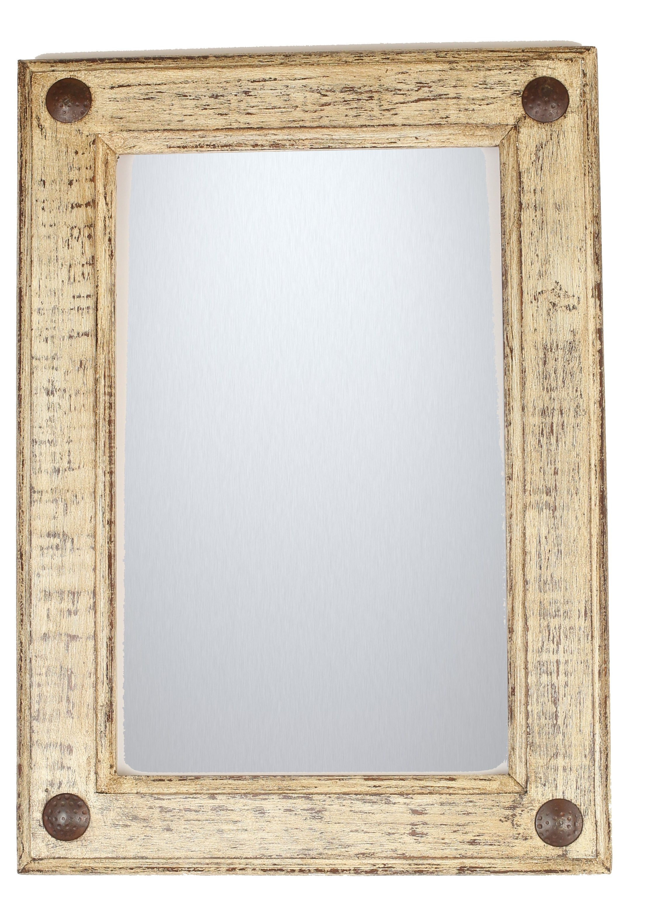 Most Popular Shabby Rustic Accent Mirror With Tifton Traditional Beveled Accent Mirrors (View 8 of 20)