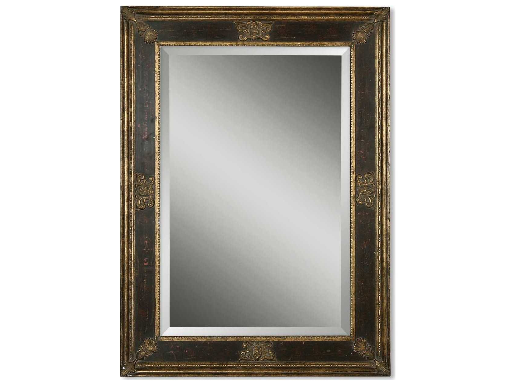 Most Popular Small Gold Wall Mirrors Inside Uttermost Cadence 34 X 46 Small Antique Gold Wall Mirror (View 7 of 20)