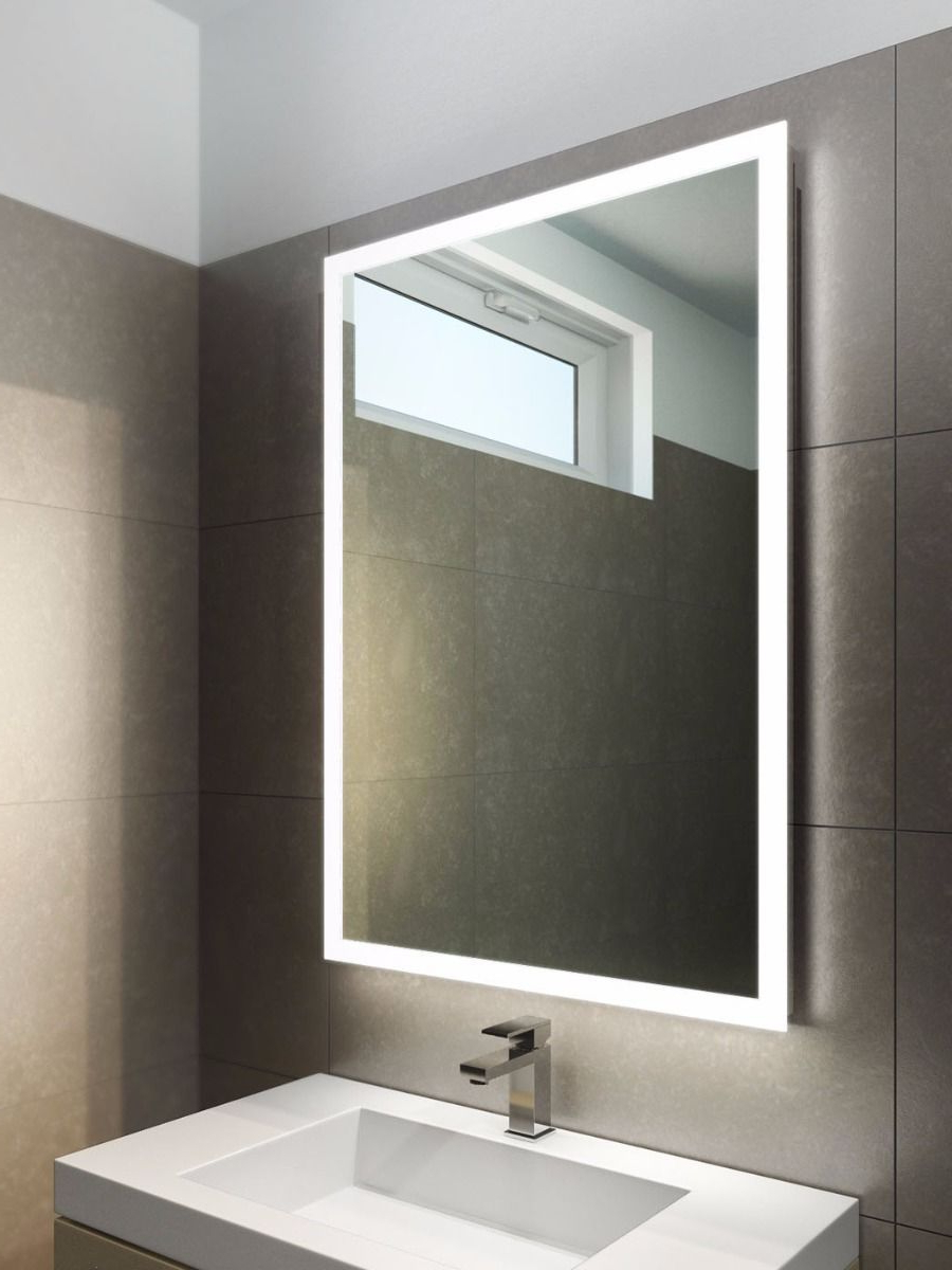 Most Popular Square Or Round, Edge Lit Mirror At Master Bath Vanity (View 16 of 20)
