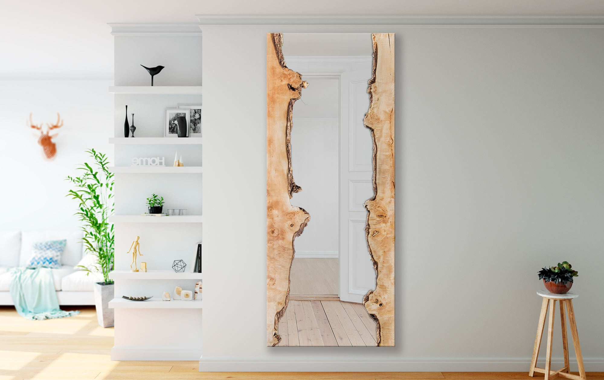 Most Popular Stand Up Wall Mirrors Intended For Yancy – Big Maple Wall Mirror – Standup/floor – Modern – Live Edge –  Minimalistic (Gallery 10 of 20)
