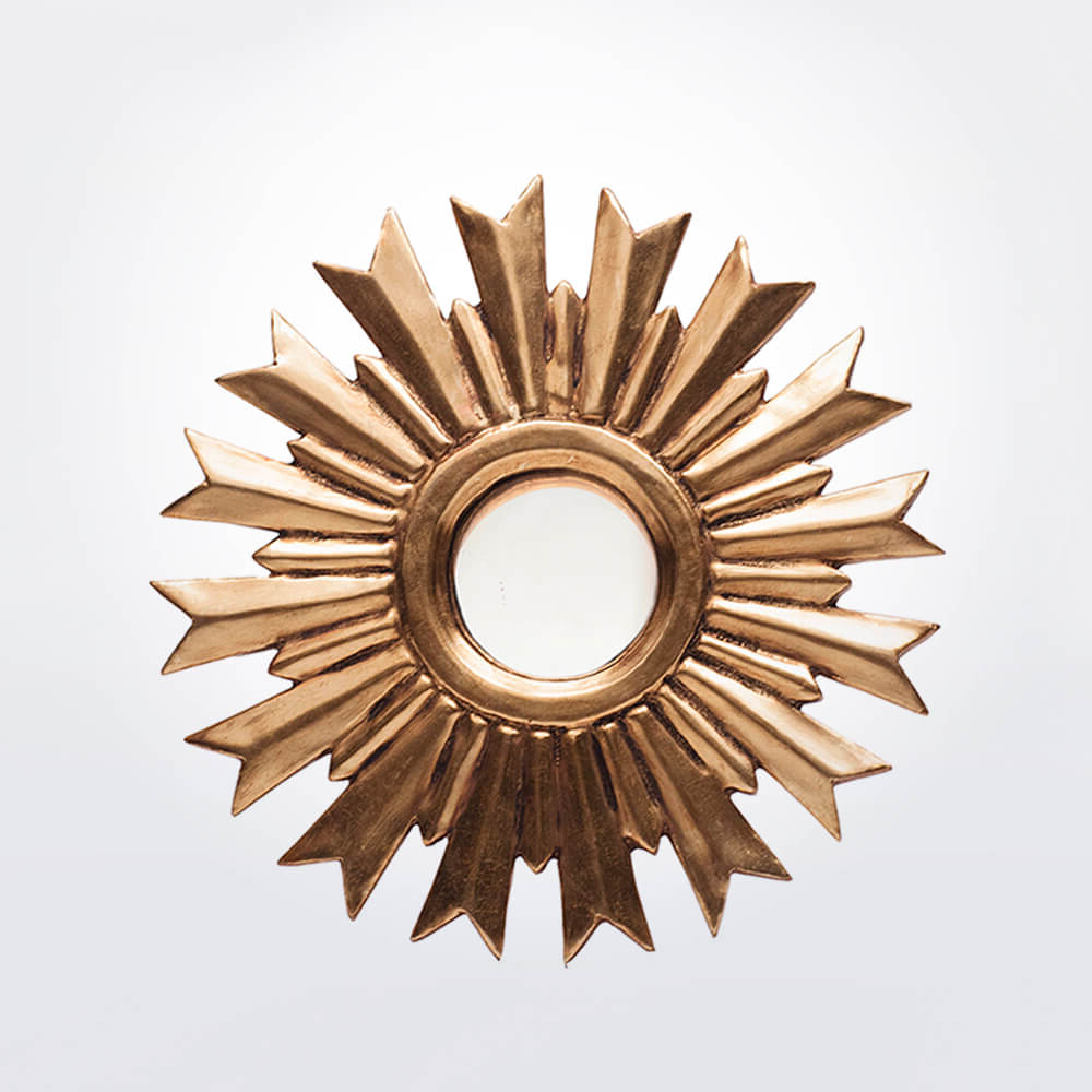 Most Popular Sunburst Wall Mirror (large) Intended For Large Sunburst Wall Mirrors (View 10 of 20)