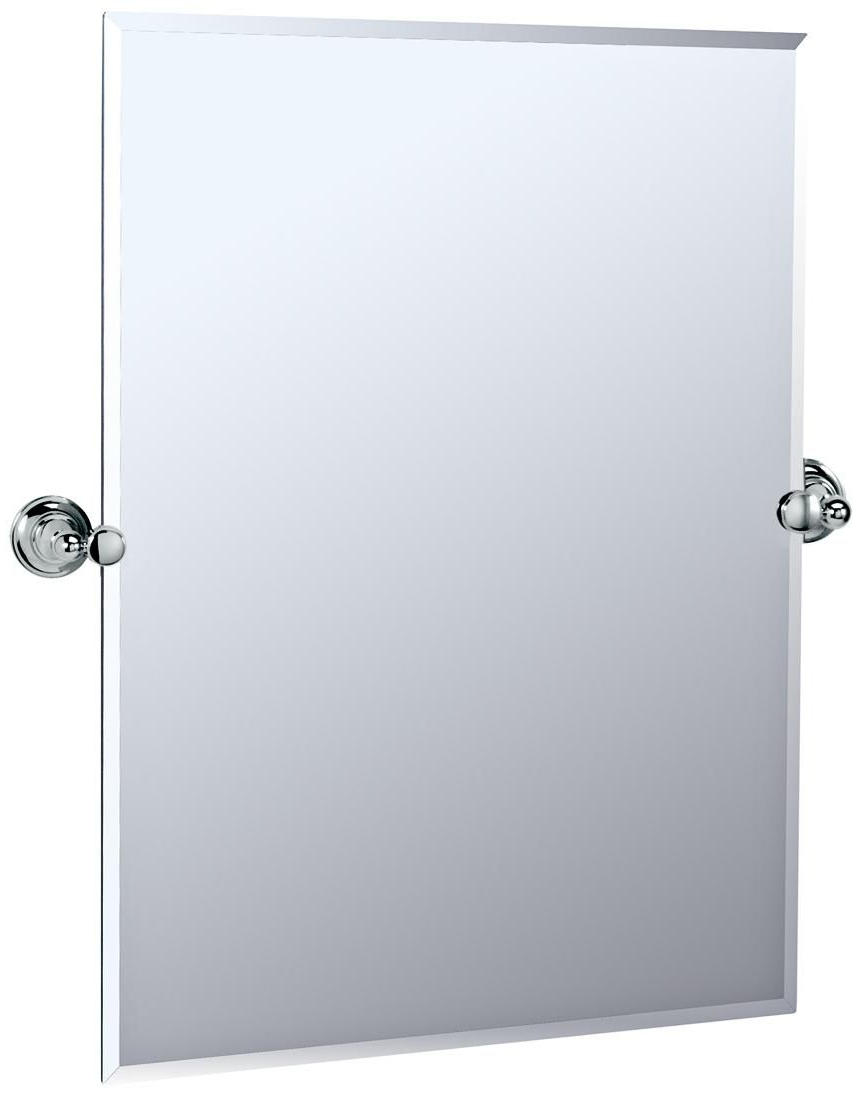 "Most Popular Tilt Wall Mirrors Regarding Gatco Chrome Tiara 31 1/2"" High Tilt Vanity Mirror – #p (View 5 of 20)"