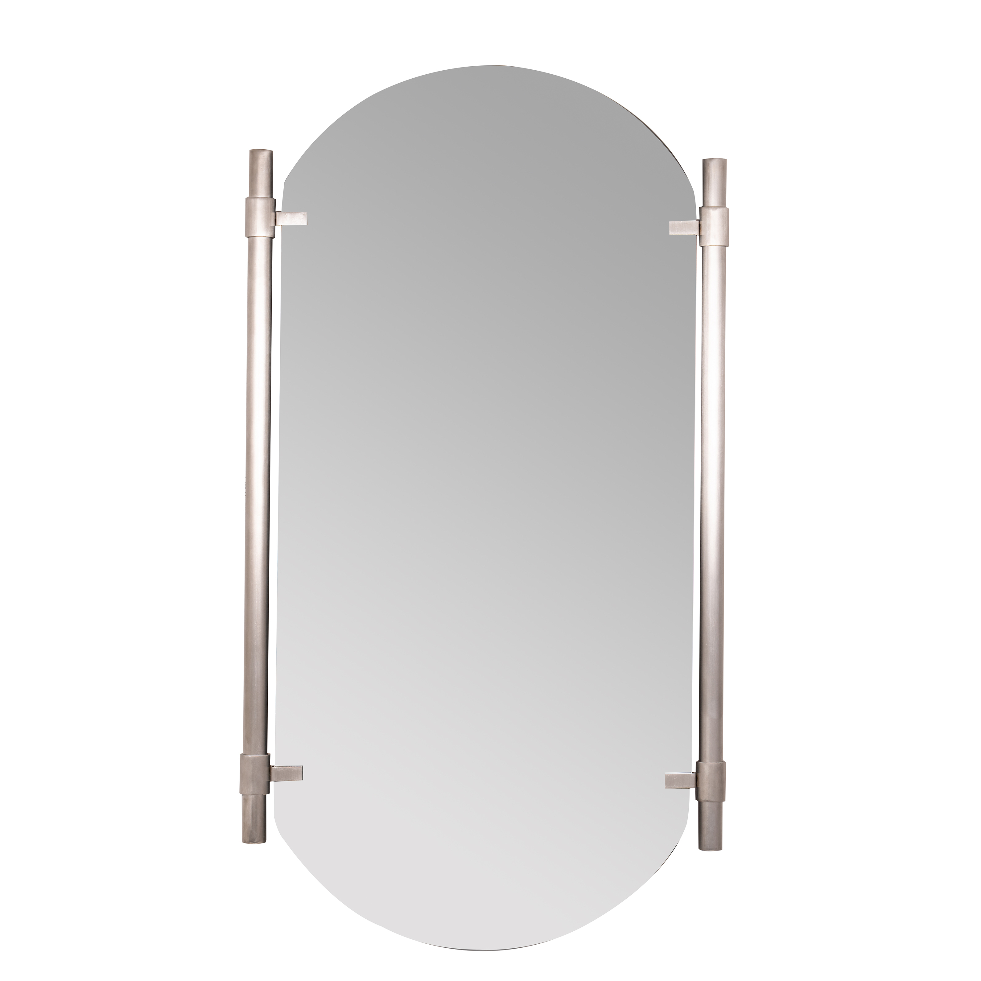 Most Popular Vertical Silver Phoebe Wall Mirror Pertaining To Arch Vertical Wall Mirrors (View 13 of 20)