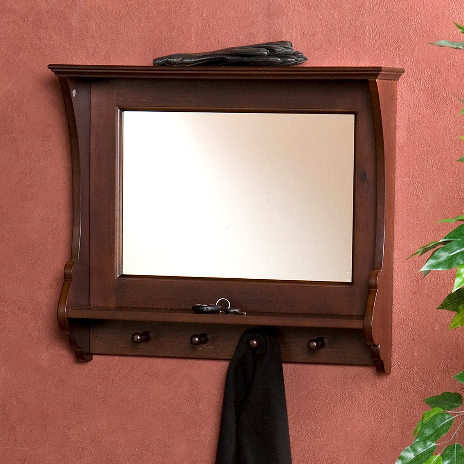 Most Popular Wall Mirrors With Hooks And Shelf For Southern Enterprises Carson City Entry Mirror (View 10 of 20)